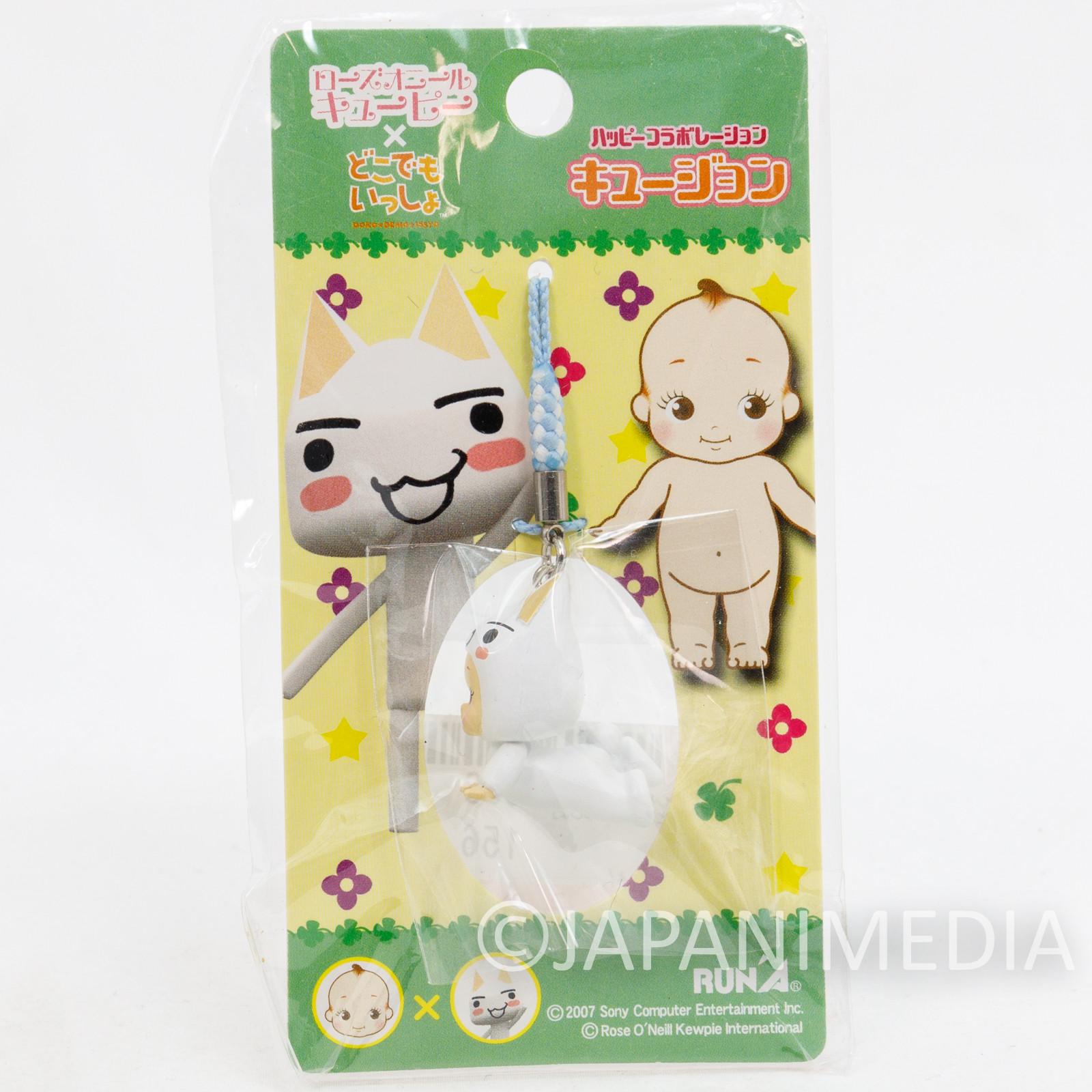 Sony Cat TORO Doko Demo Issyo Rose O'neill Kewpie Kewsion Figure Strap JAPAN ANIME