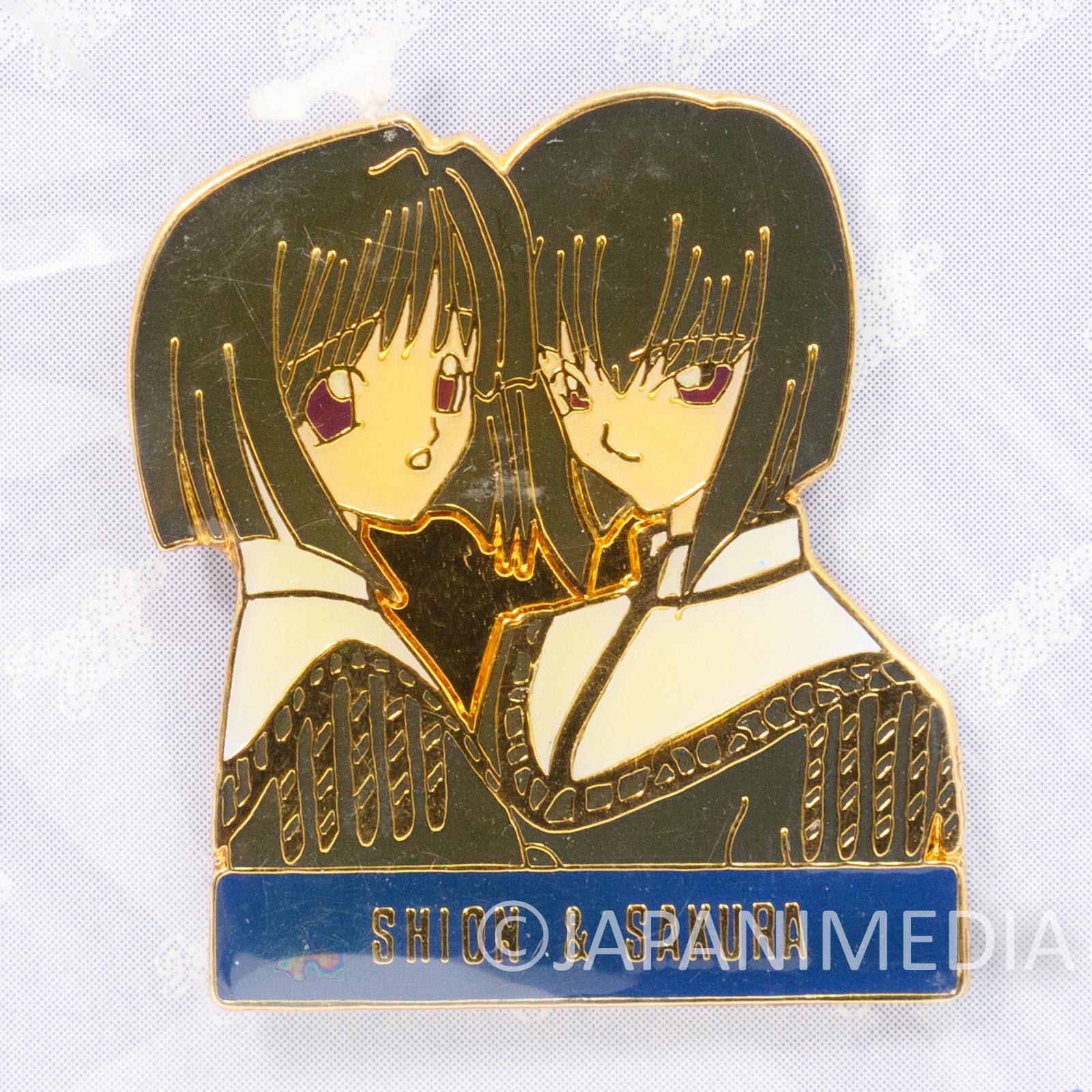 Seraphim Call Metal Pins Shion & Sakura Murasame Media Works JAPAN ANIME