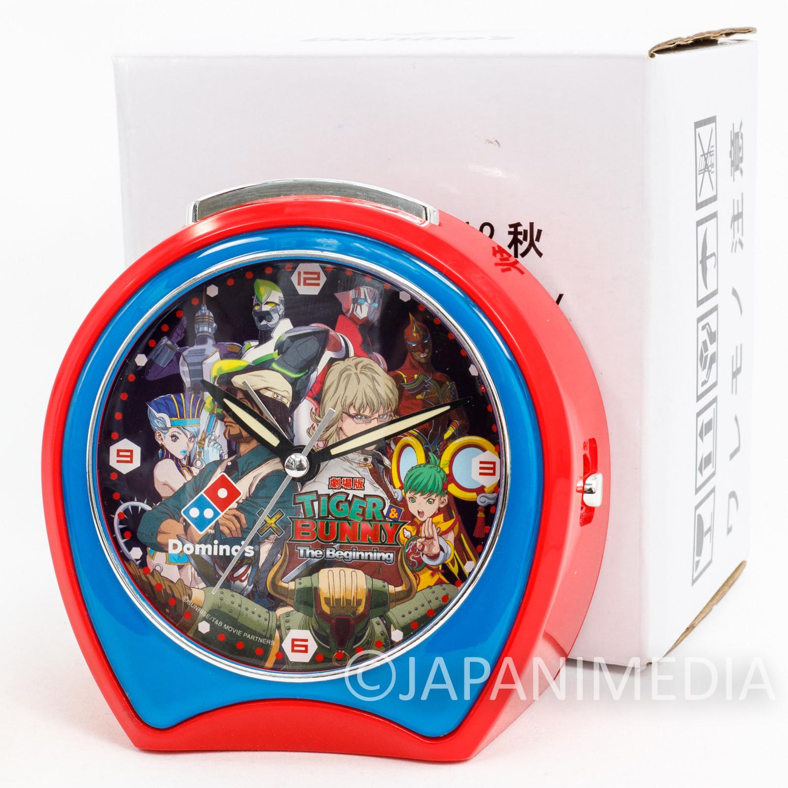 Tiger & Bunny Voice Alarm Clock Domino Pizza JAPAN ANIME