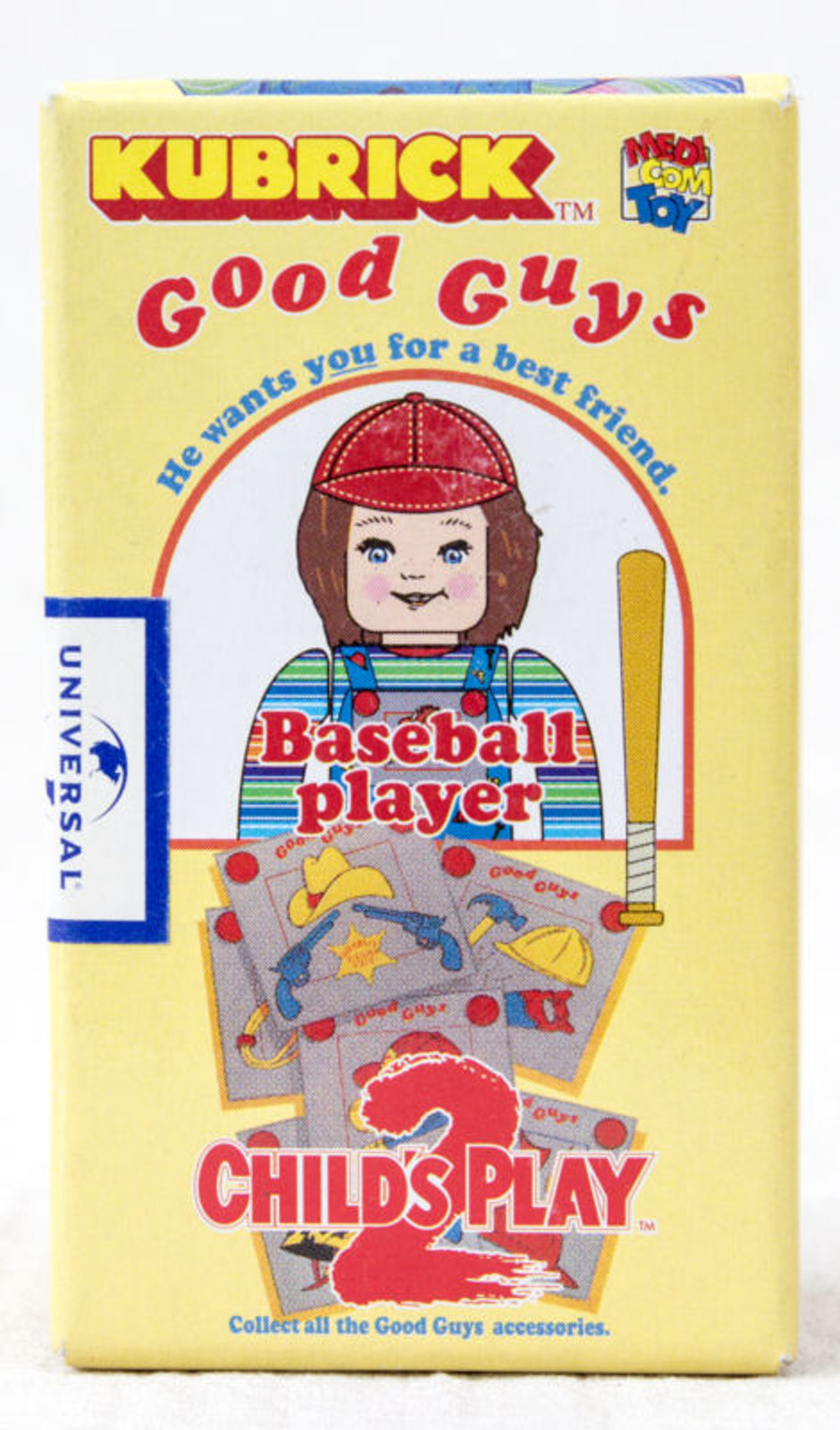 Child's Play 2 Good Guys Baseball Player Chucky Figure Kubrick Medicom Toy JAPAN ANIME