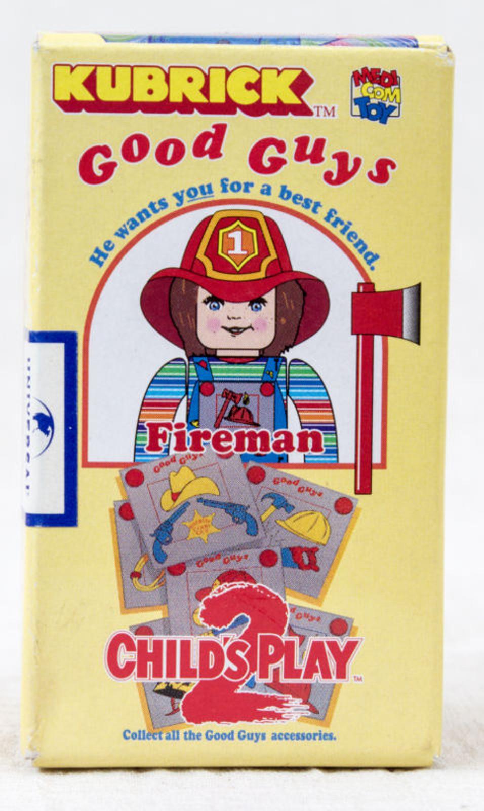 Child's Play 2 Good Guys Fireman Chucky Figure Kubrick Medicom Toy JAPAN ANIME
