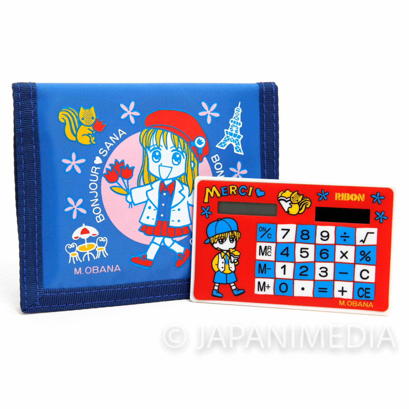 RARE!! Kodocha Sana Kurata Colorful Wallet with Calculator Ribon JAPAN MANGA