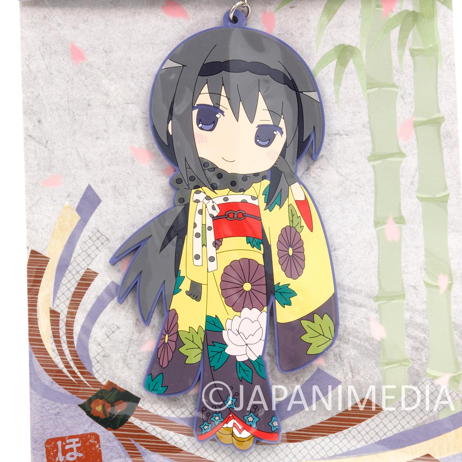 """Puella Magi Magica Madoka Homura Akemi Kimono ver. Big Mascot Rubber Strap 5"""""""
