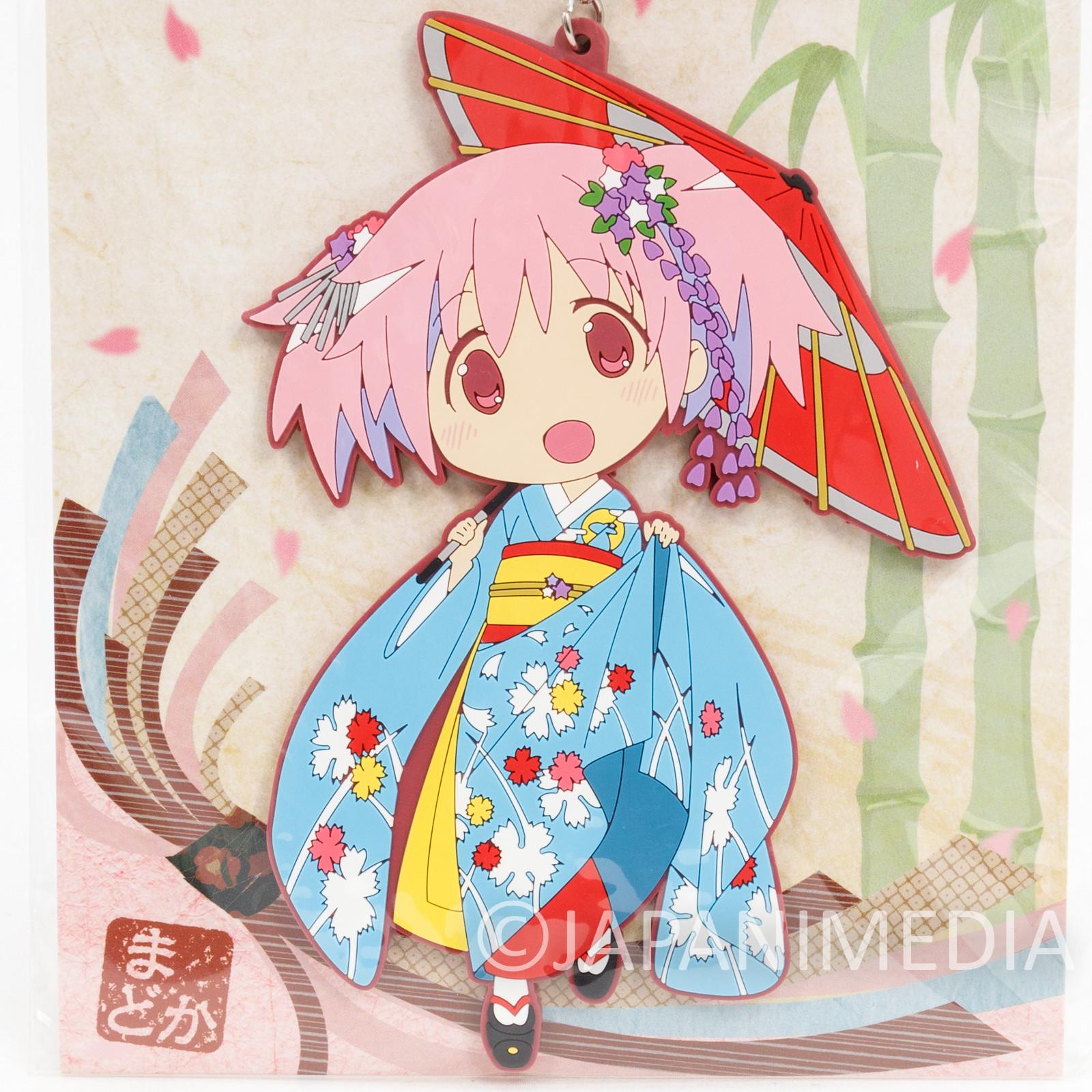 "Puella Magi Magica Madoka Kaname Madoka Kimono ver. Big Mascot Rubber Strap 5"""