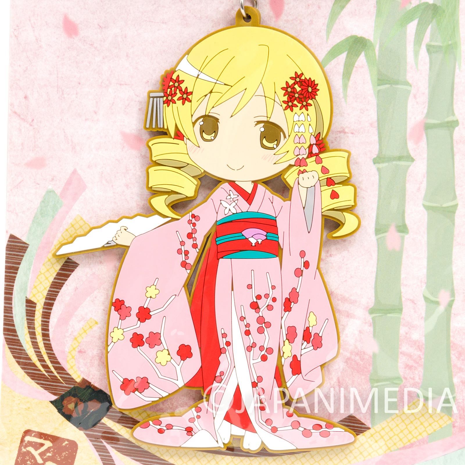 """Puella Magi Magica Madoka Mami Tomomi Kimono ver. Big Mascot Rubber Strap 5"""""""
