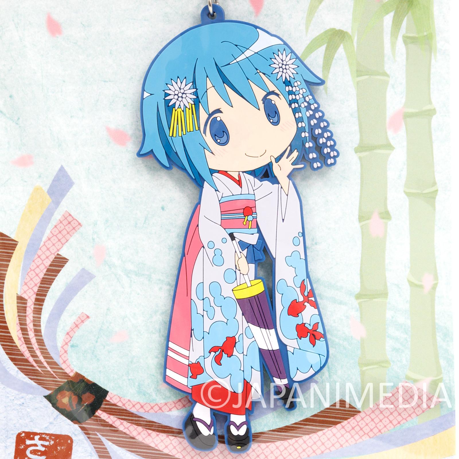"Puella Magi Magica Madoka Sayaka Miki Kimono ver. Big Mascot Rubber Strap 5"""