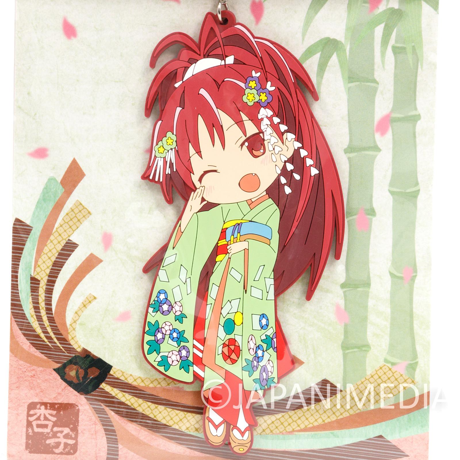 "Puella Magi Magica Madoka Kyoko Sakura Kimono ver. Big Mascot Rubber Strap 5"""