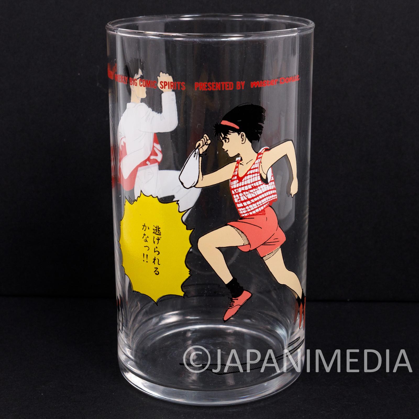 Retro RARE! PAPARINKO Glass Hisashi Eguchi Mister Donut JAPAN ANIME MANGA 4 #