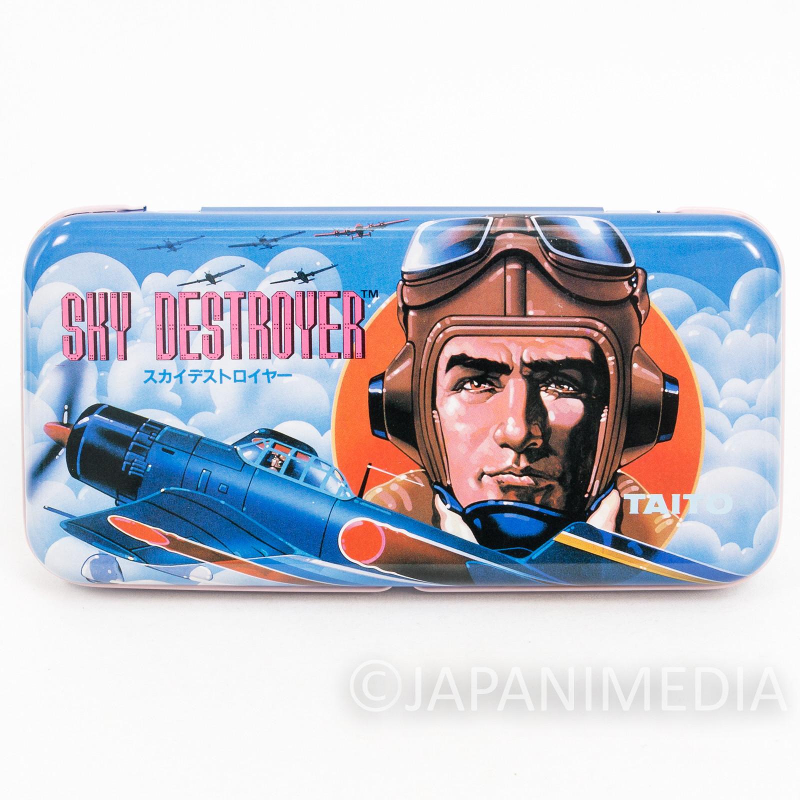 Retro RARE! Sky Destroyer Can Pen Case NES Famicom Nintendo