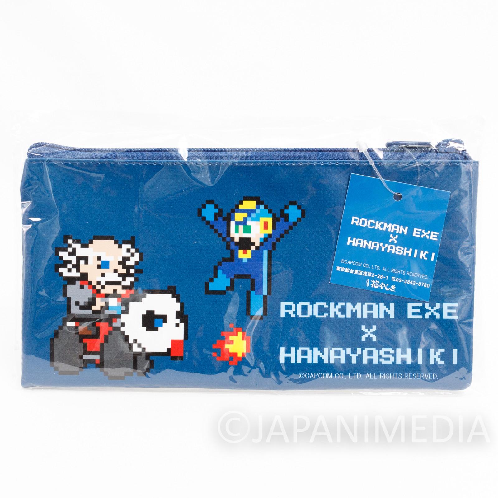 Rockman x Hanayashiki Vinyl Pen Case JAPAN GAME CAPCOM MEGA MAN