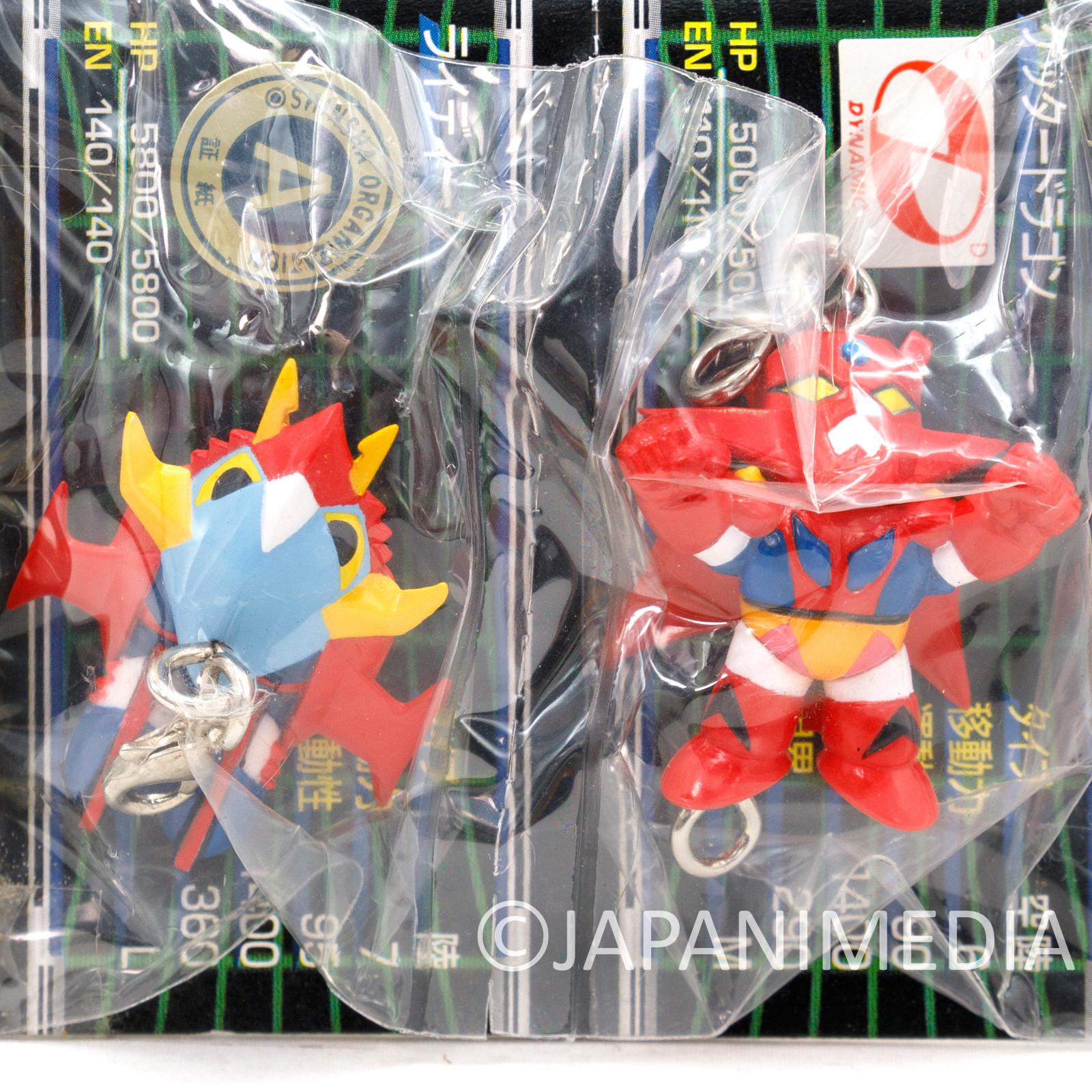 Getter Dragon Robo & Reideen God Bird Mascot Figure Charm Banpresto JAPAN