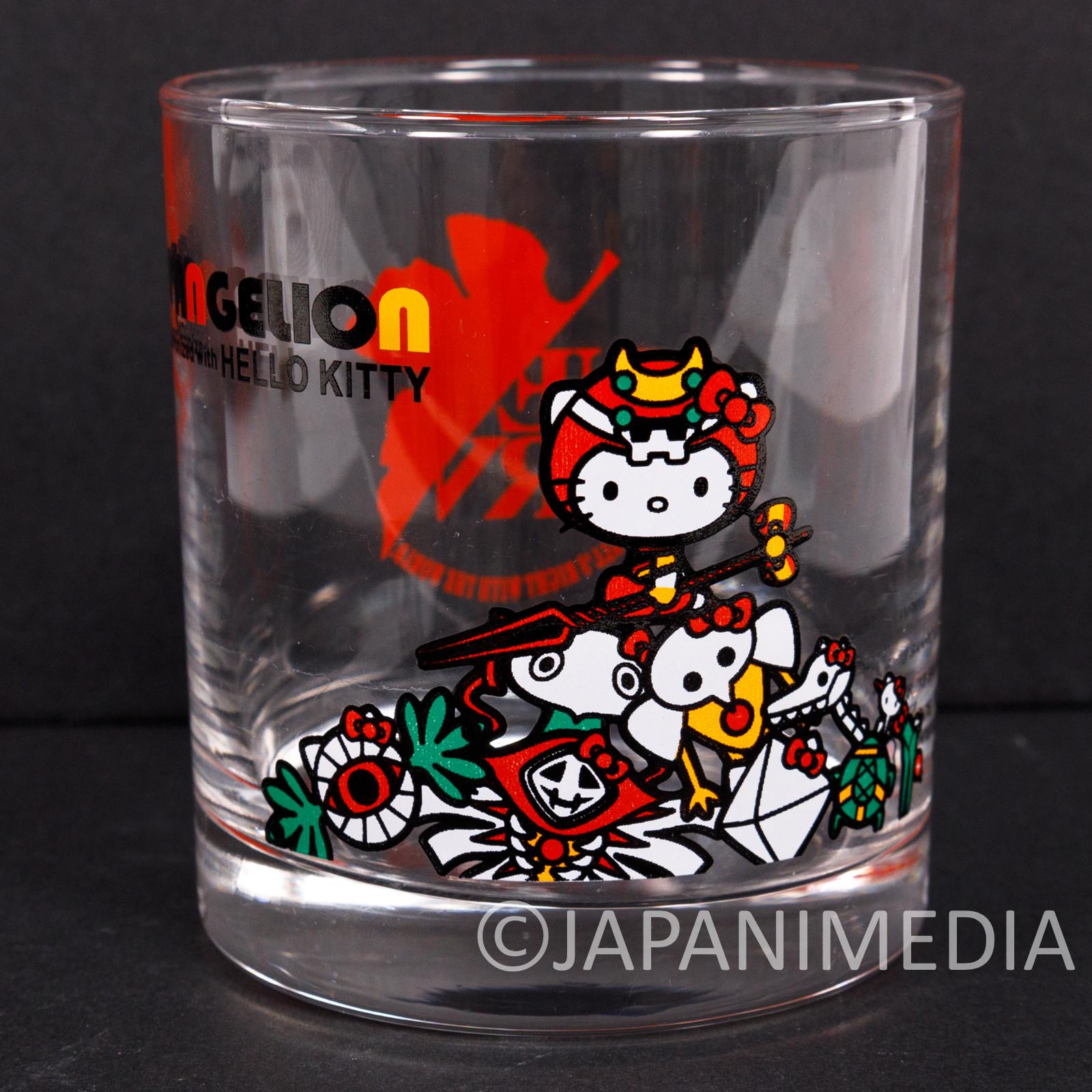 Evangelion × Hello Kitty Rock Glass EVA-02 & Angels Ver. Sanrio JAPAN ANIME