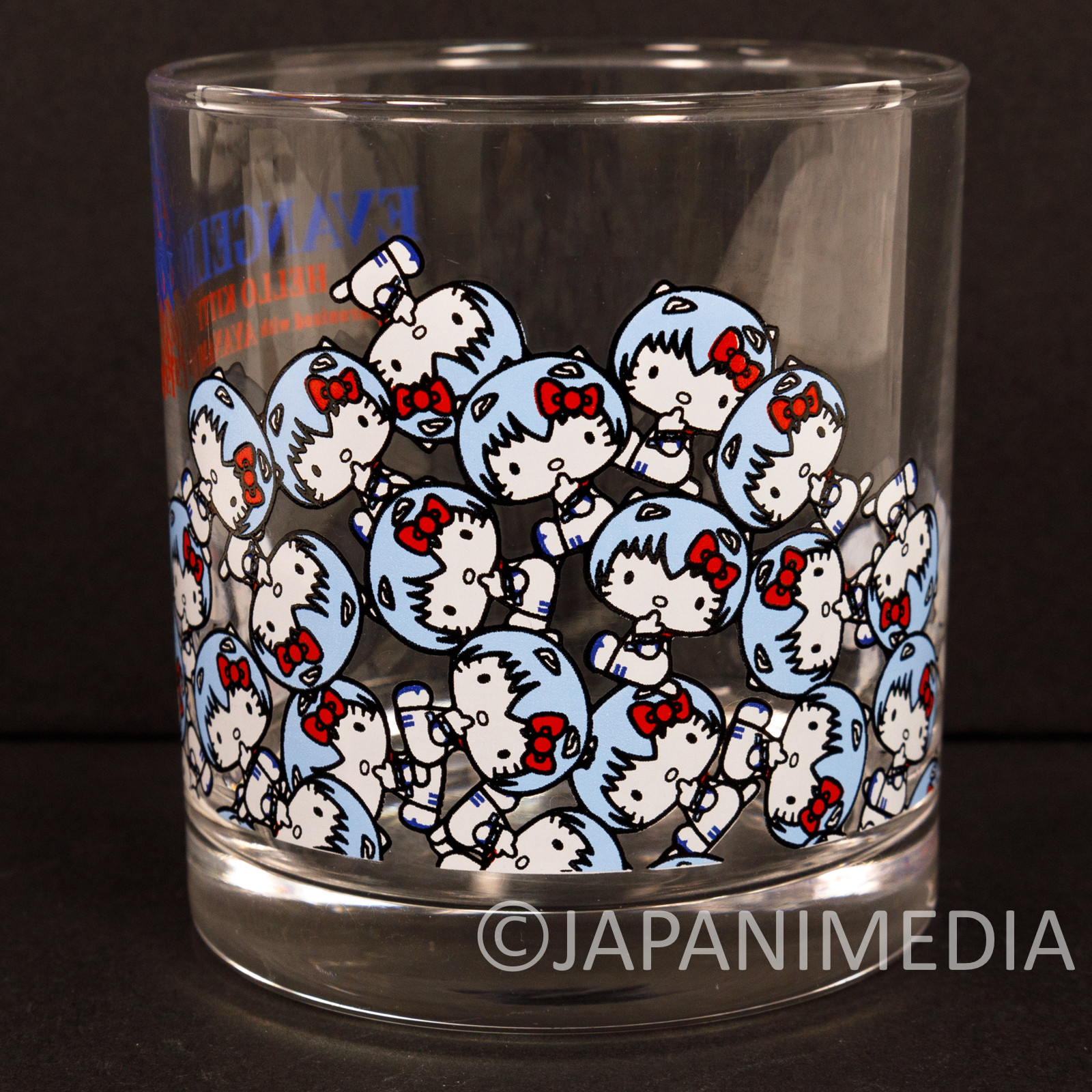 Evangelion × Hello Kitty Rock Glass Rei Ayanami Ver. Sanrio JAPAN ANIME