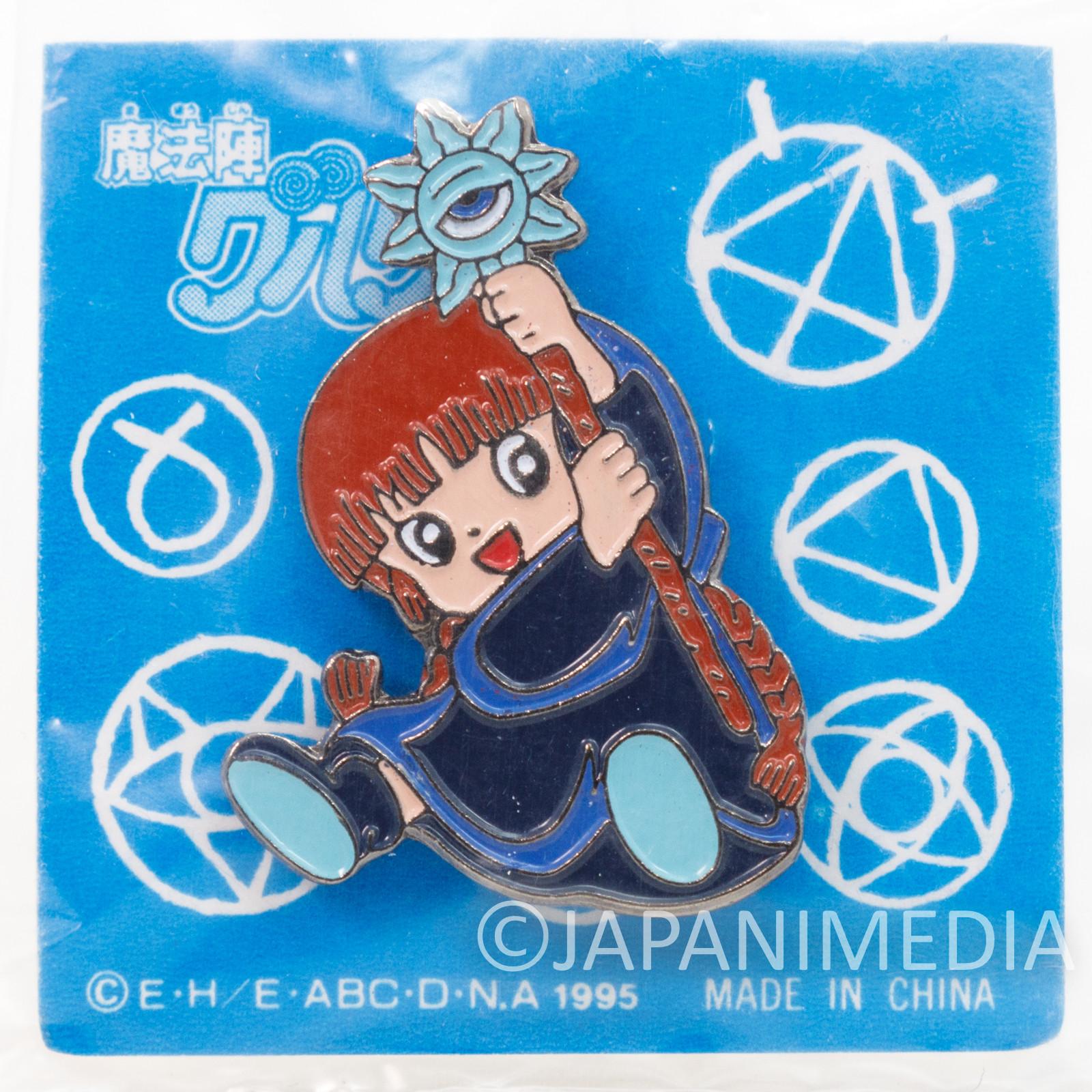 RARE! Magical Circle Guru Guru Kukuri Metal Pins JAPAN ANIME MANGA