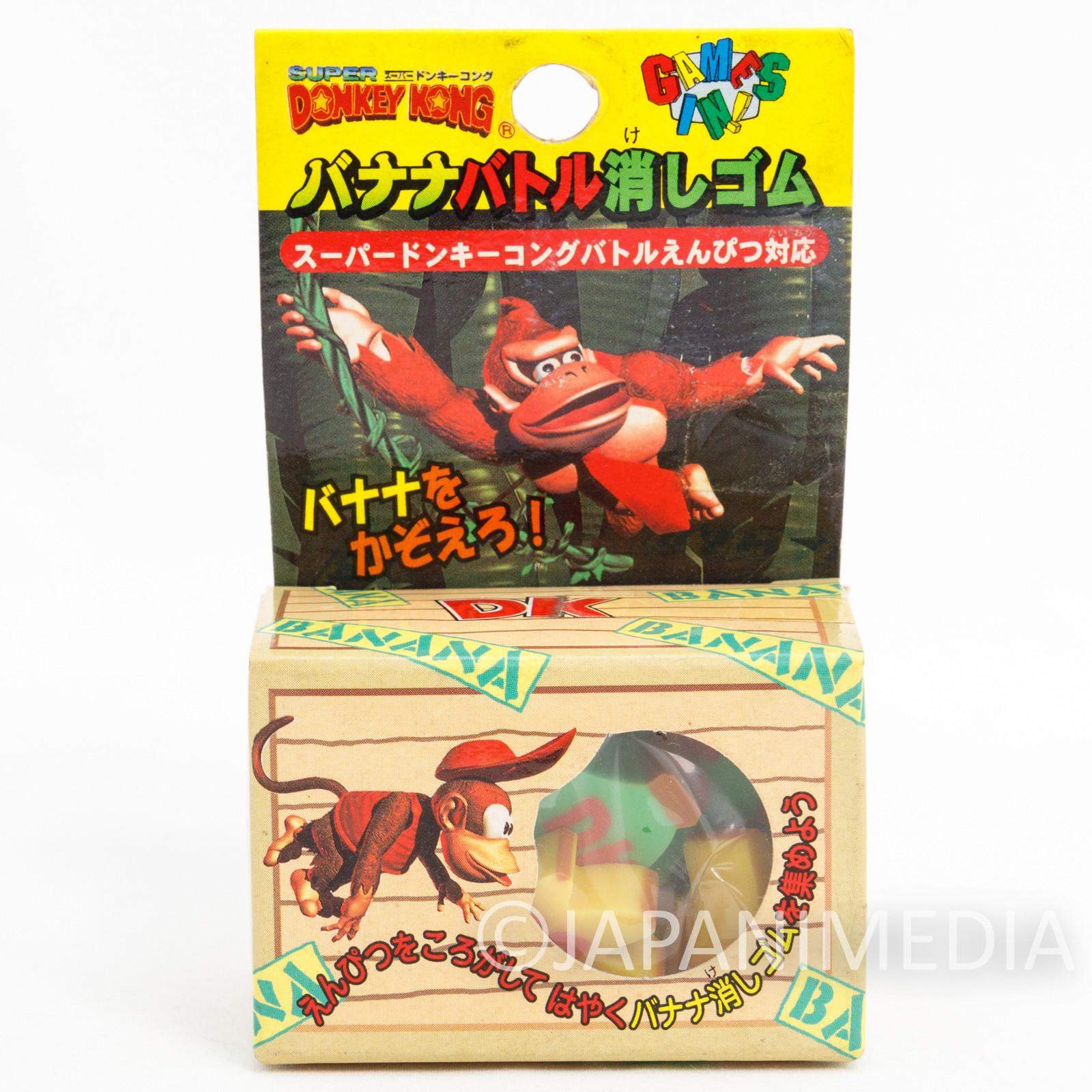 Donkey Kong Banana type Eraser 12pc Set Nintendo JAPAN FAMICOM SNES
