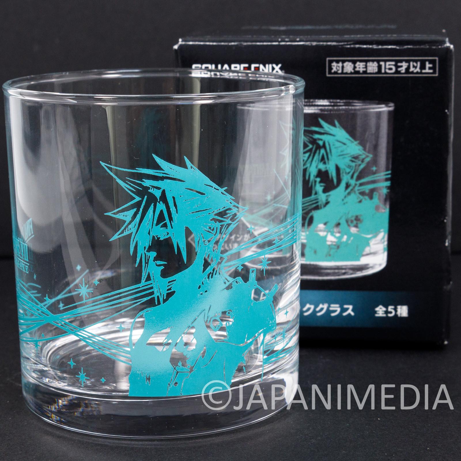 Final Fantasy Cloud Strife Rock Glass SQUARE ENIX JAPAN