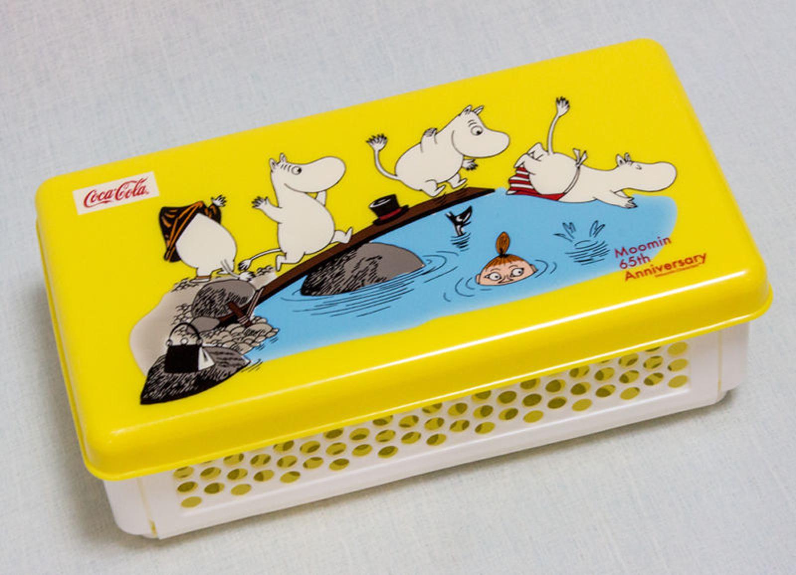 Moomin 65th Anniversary Japan Coca-Cola Prize Folding Lunch Box Sandwich Case