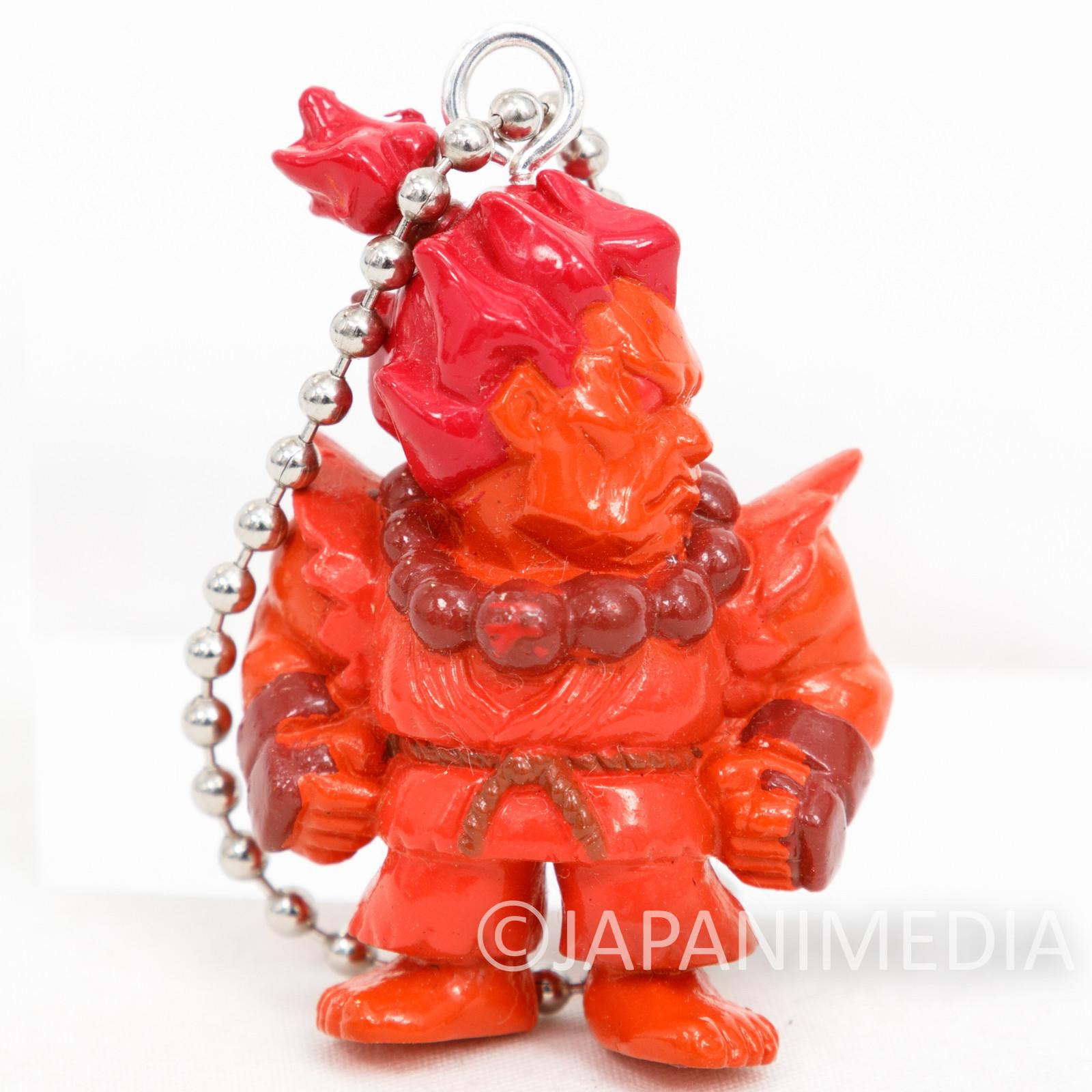 Street Fighter ZERO Gouki Akuma Figure Red color ver Ballchain JAPAN GAME CAPCOM