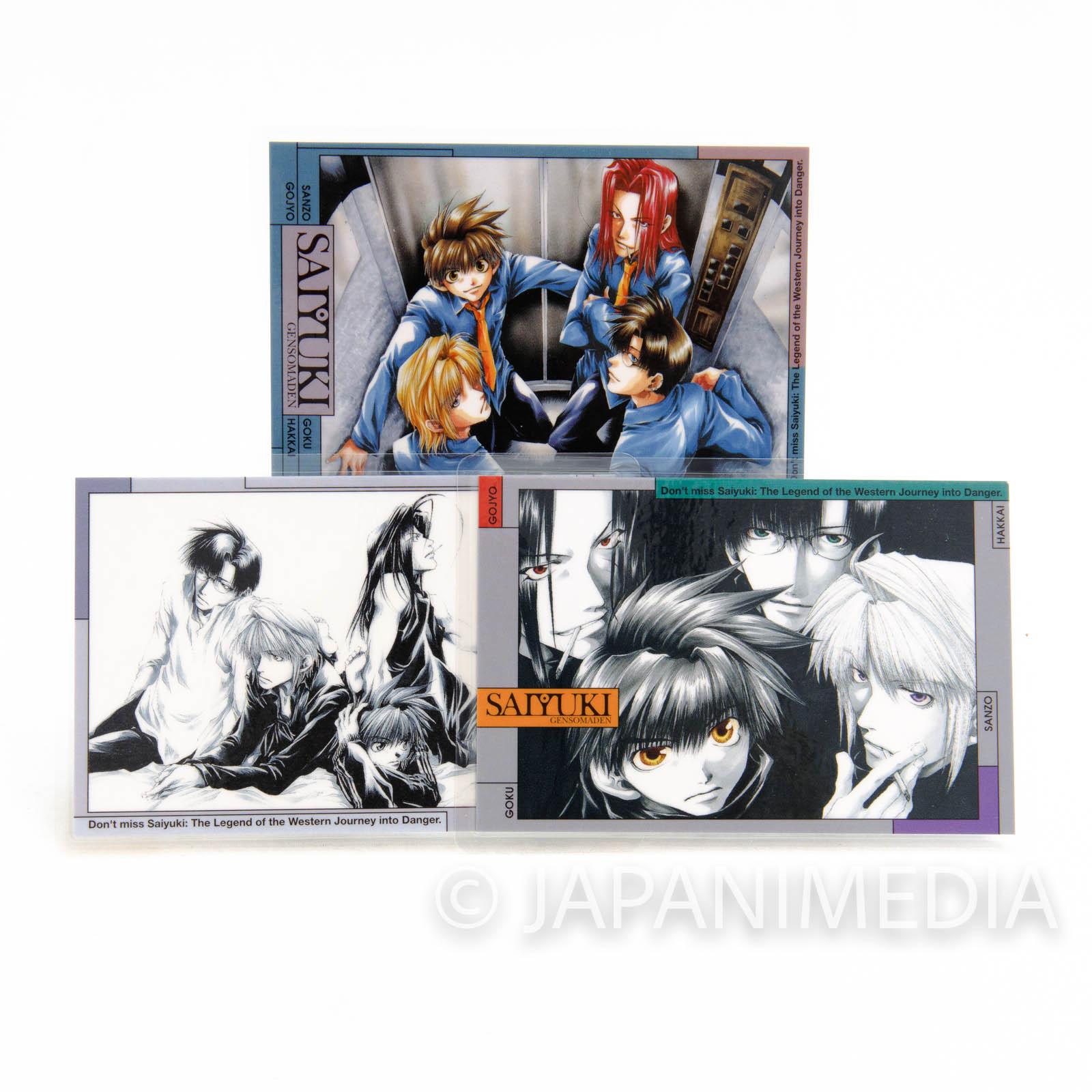 SAIYUKI Laminate cards 3pc Set [Sanzo / Goku / Gojyo / Hakkai] Kazuya Minekura JAPAN ANIME