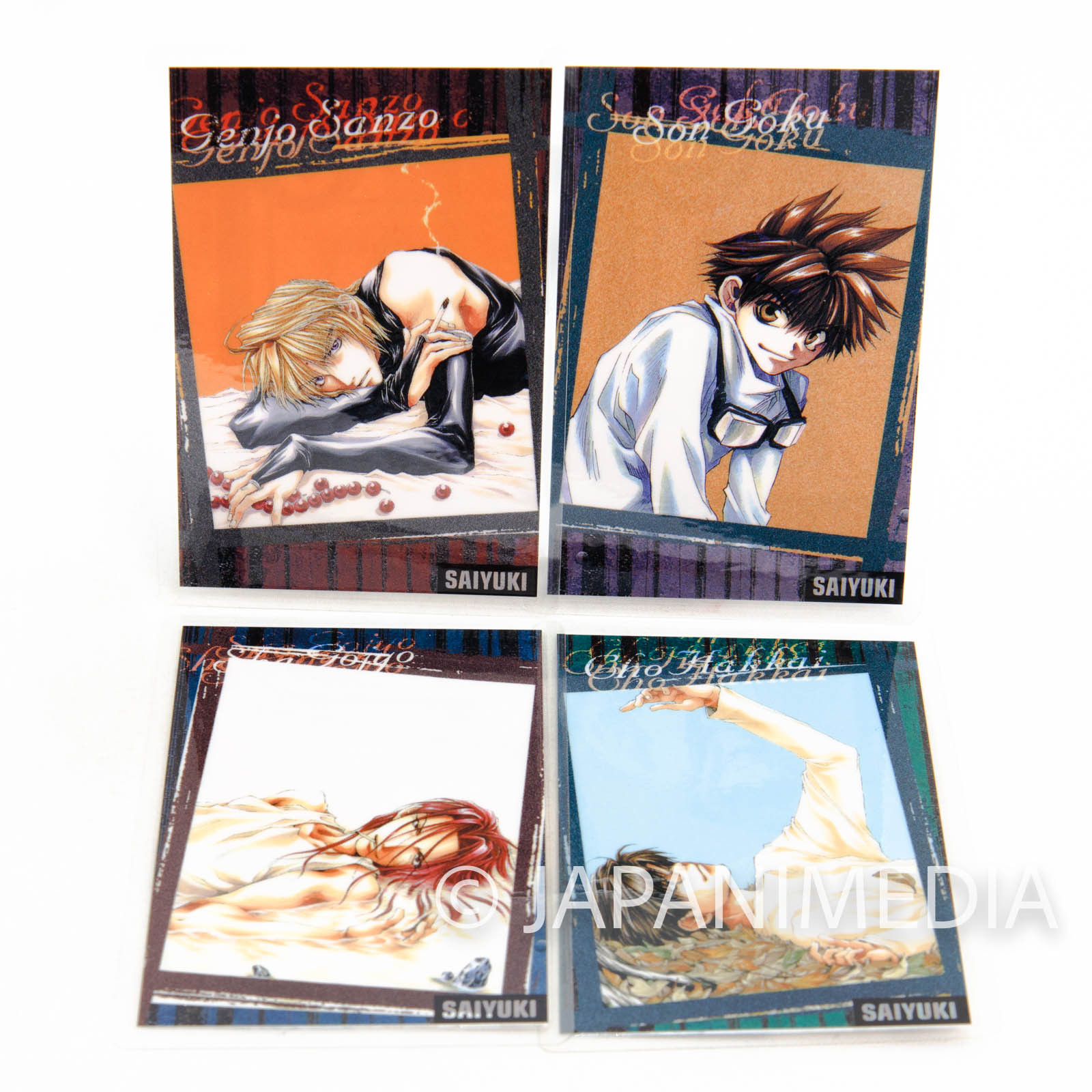 SAIYUKI Laminate cards 4pc Set [Sanzo / Goku / Gojyo / Hakkai] Kazuya Minekura JAPAN ANIME