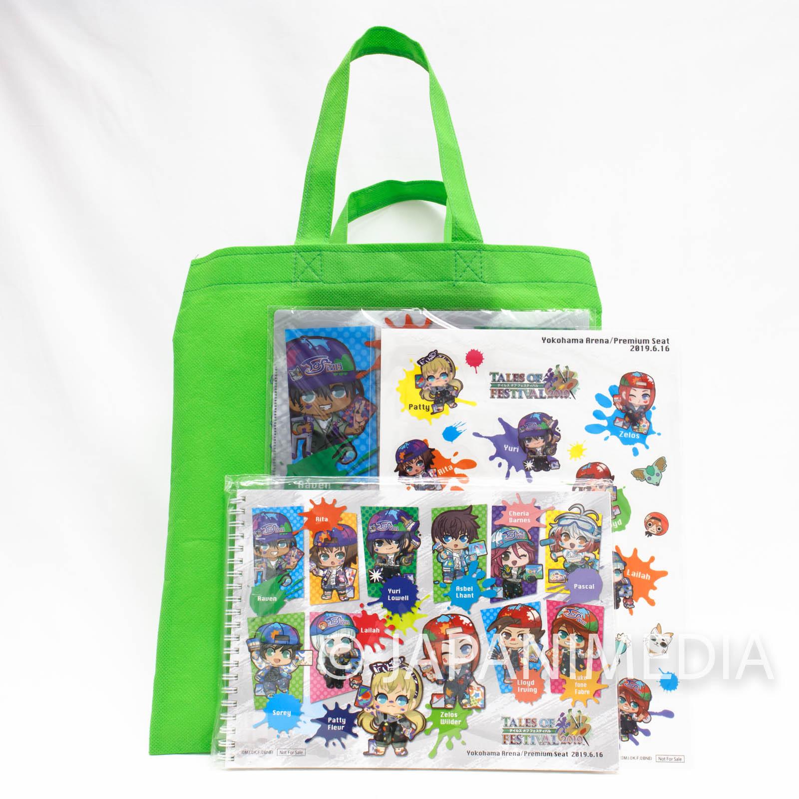 Tales of Festival 2019 Sketchbook & Clear File Folder & Sticker Sheet Set Yokohama Arena JAPAN GAME