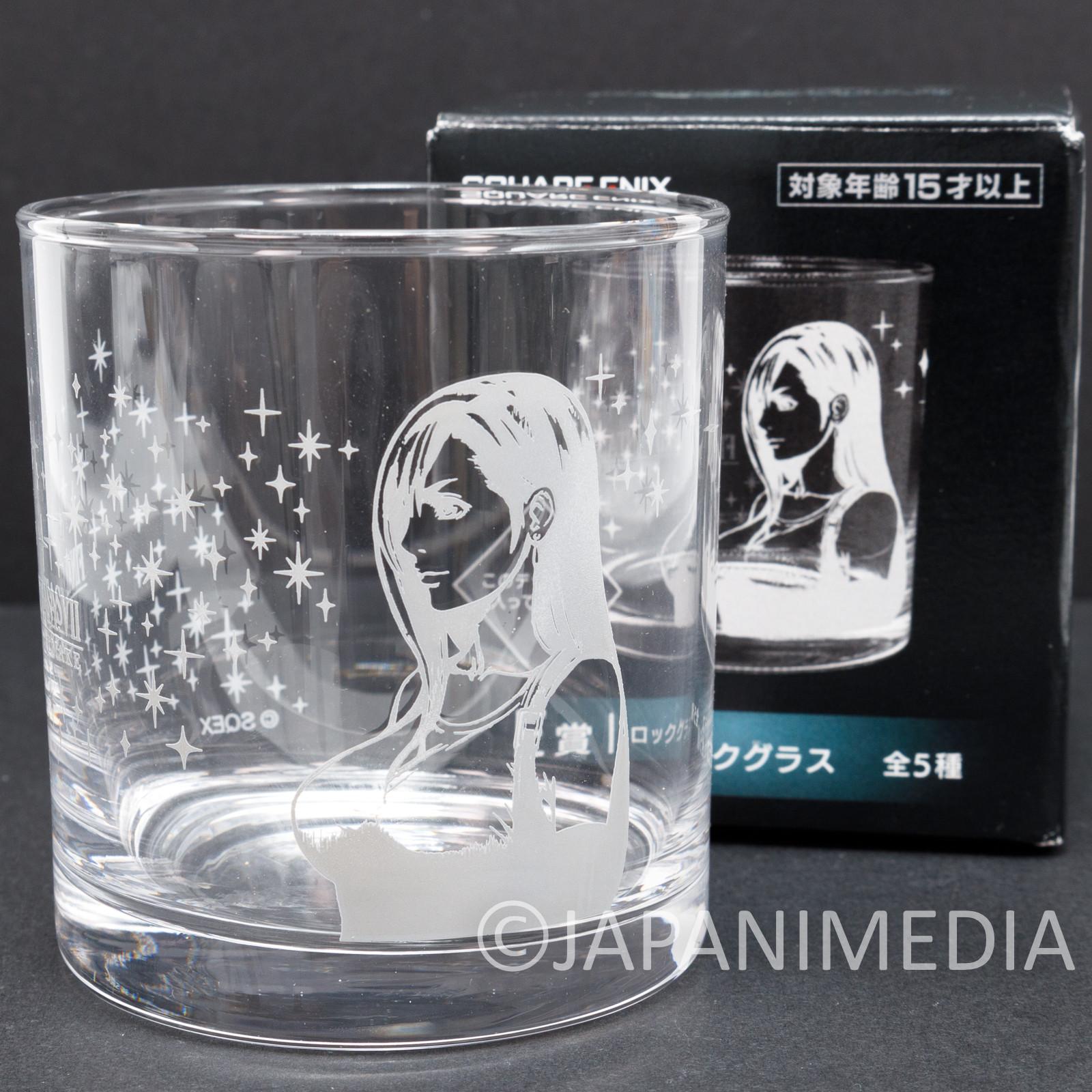 Final Fantasy Tifa Lockhart Rock Glass SQUARE ENIX JAPAN