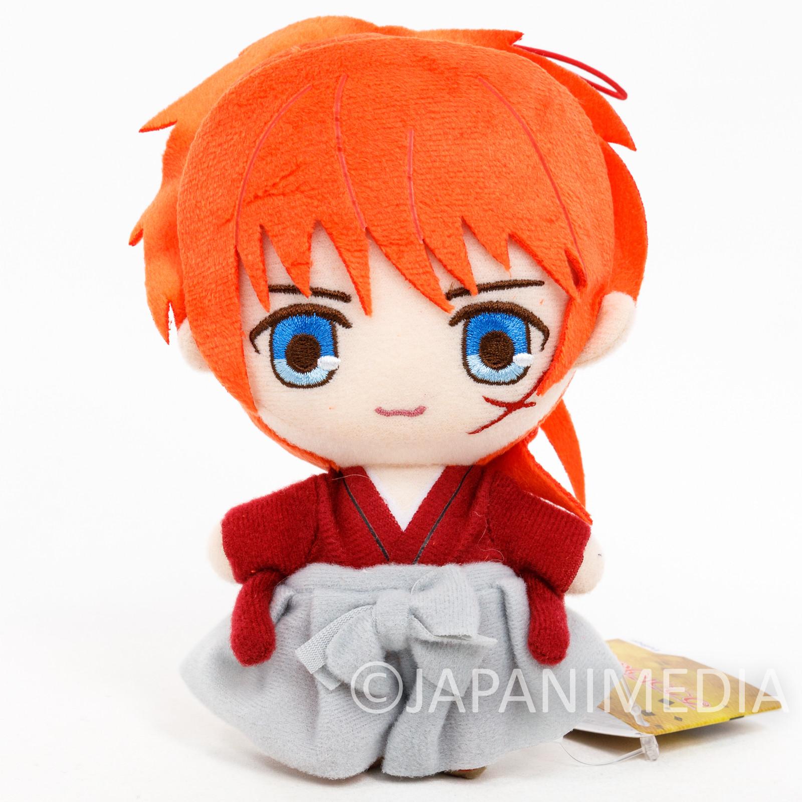 Rurouni Kenshin Kenshin Himuro Plush Doll w/Strap JAPAN ANIME