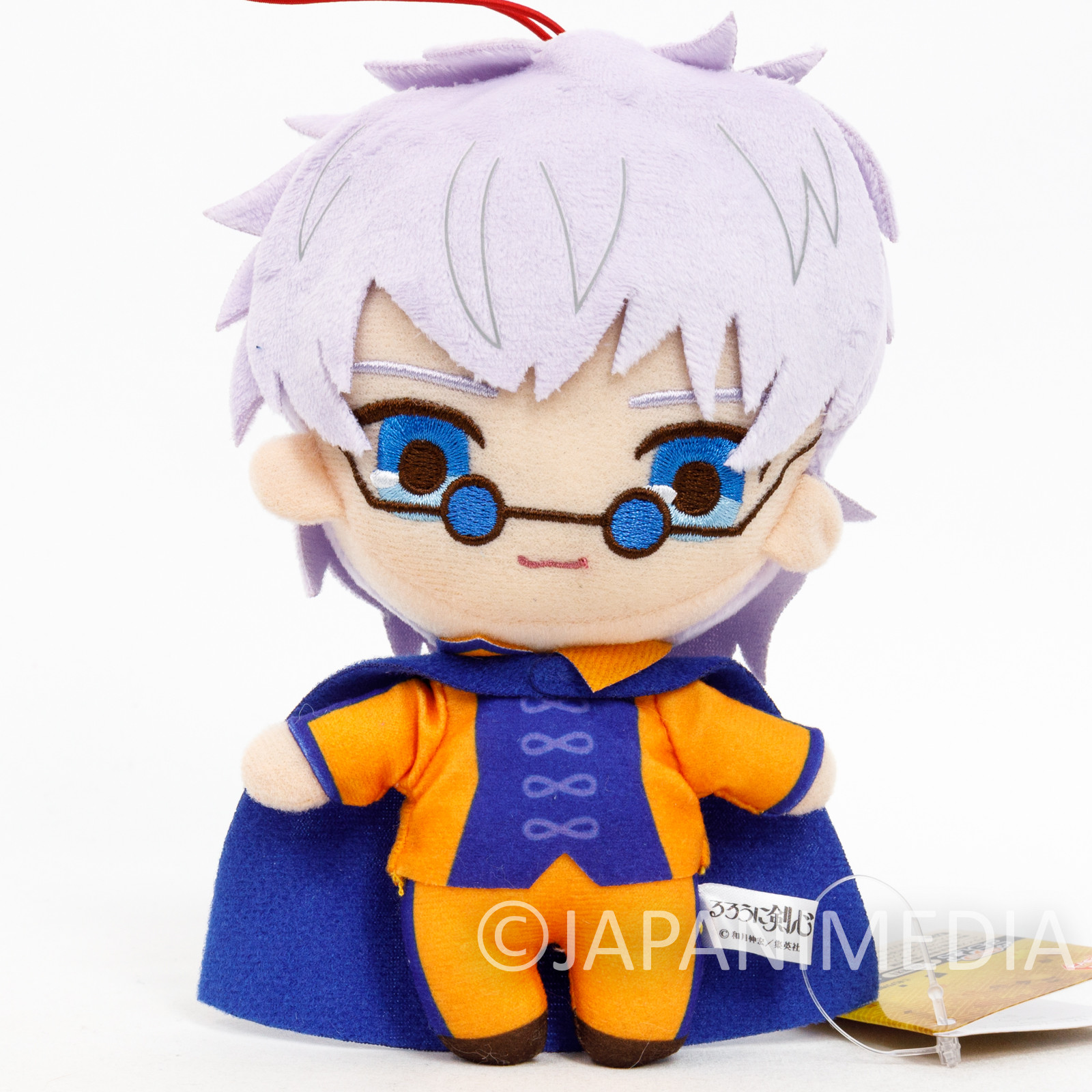Rurouni Kenshin Enishi Yukishiro Plush Doll w/Strap JAPAN ANIME