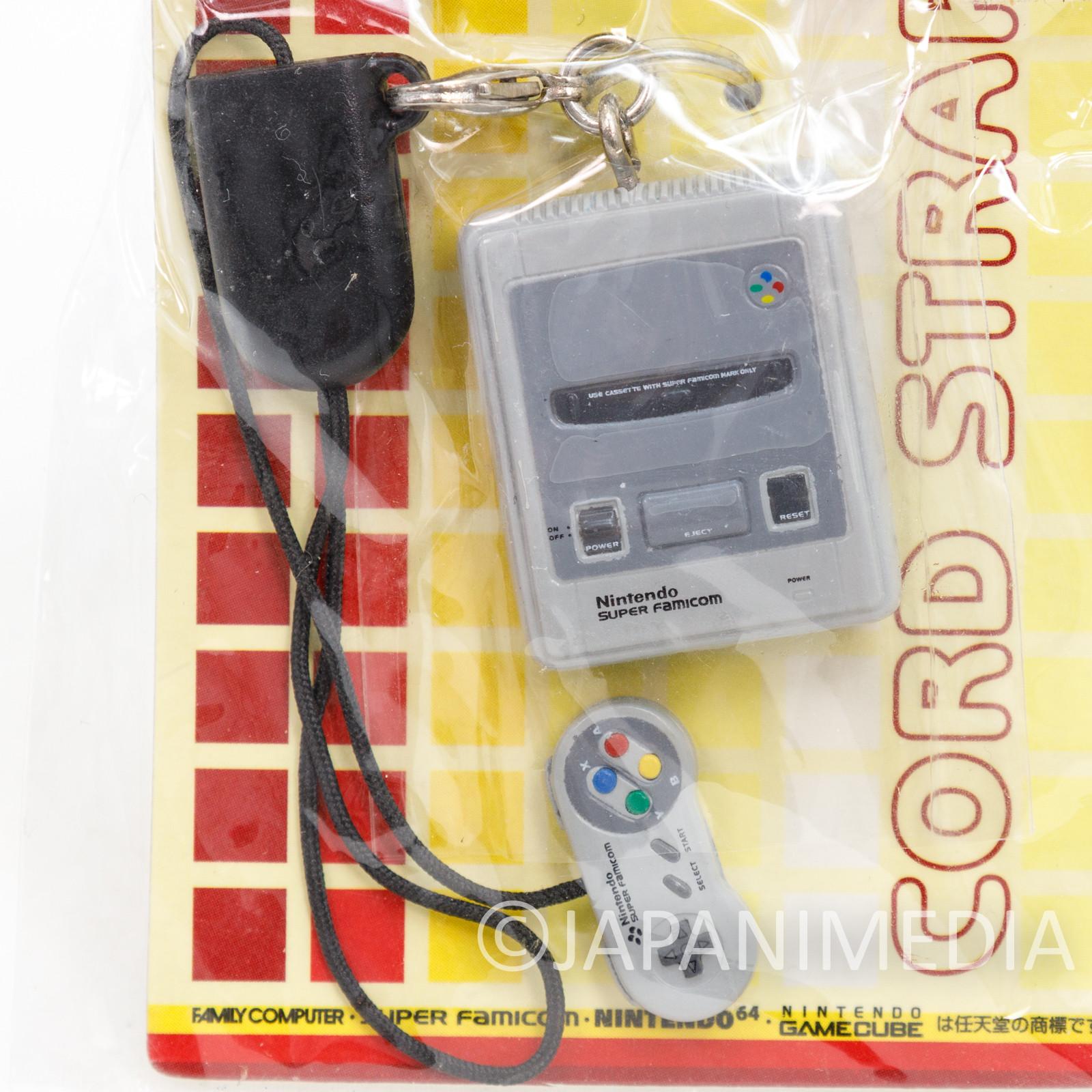Nintendo Game Console Miniature Figure Strap Super Famicom SNES