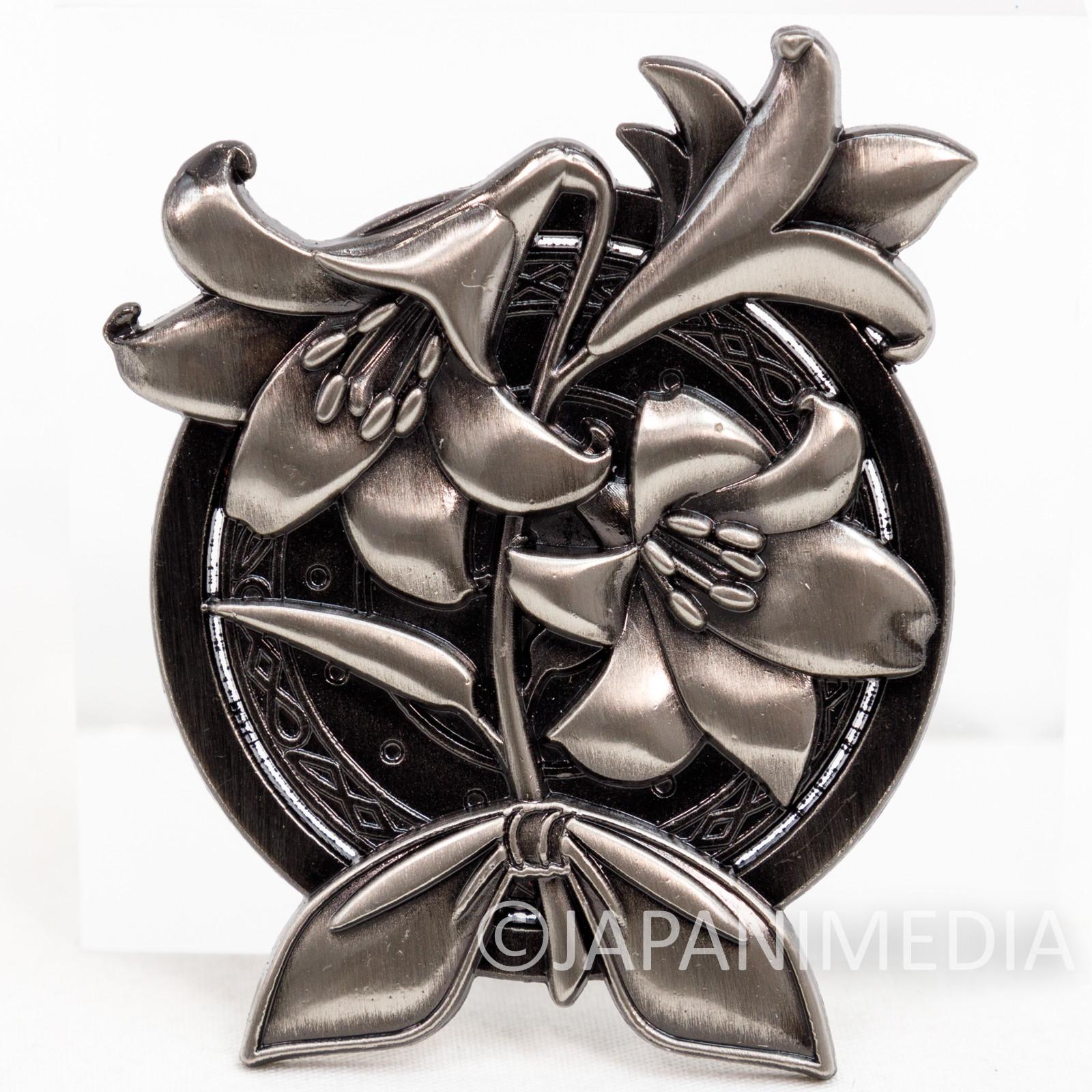 Final Fantasy VII Aerith Flower Metal Pins Badge SQUARE ENIX