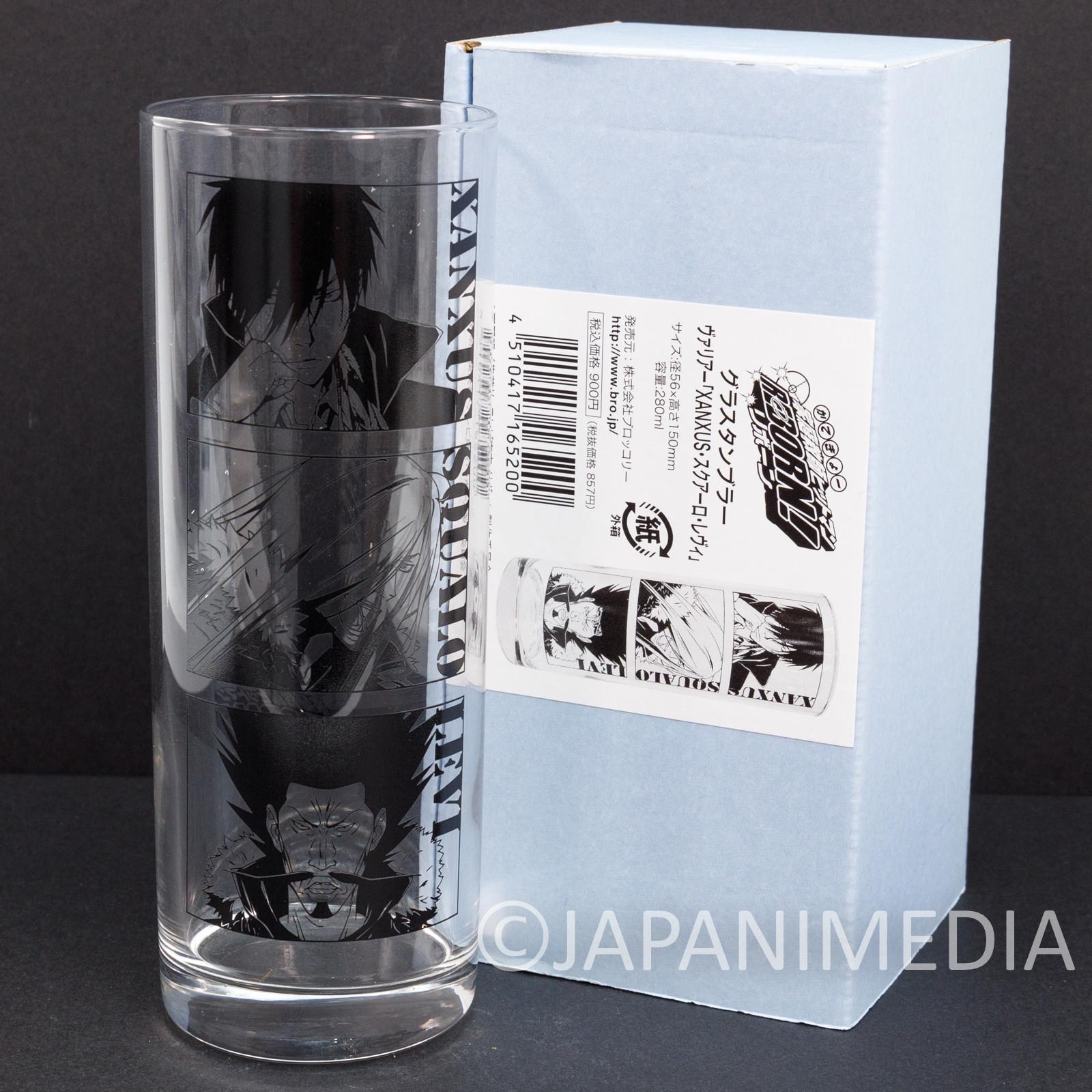Katekyo Hitman REBORN! Glass VARIA Xanxus Squalo Levi JAPAN SHONEN JUMP