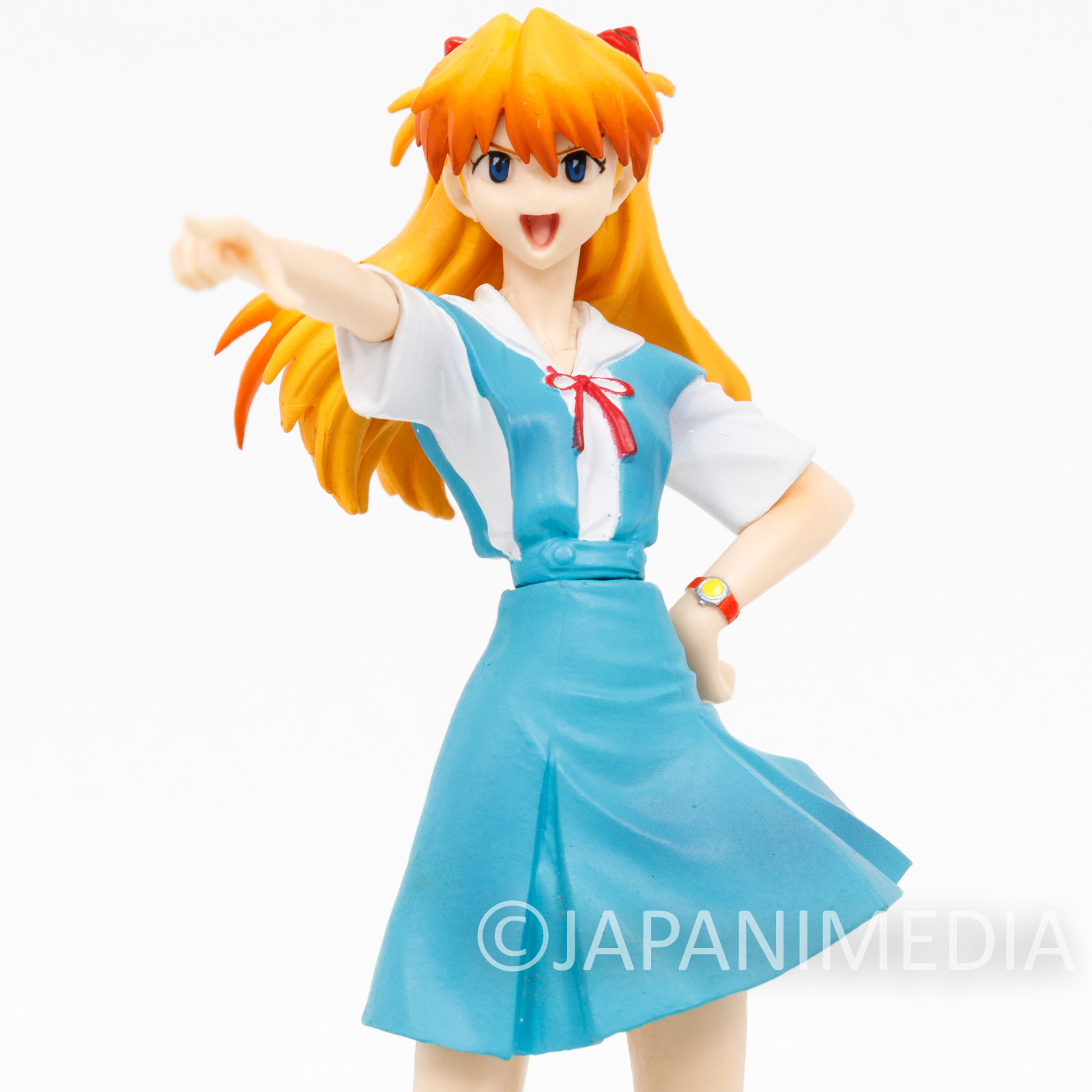 Evangelion Asuka Langley School Costume Portraits Figure Series 9 BANDAI JAPAN