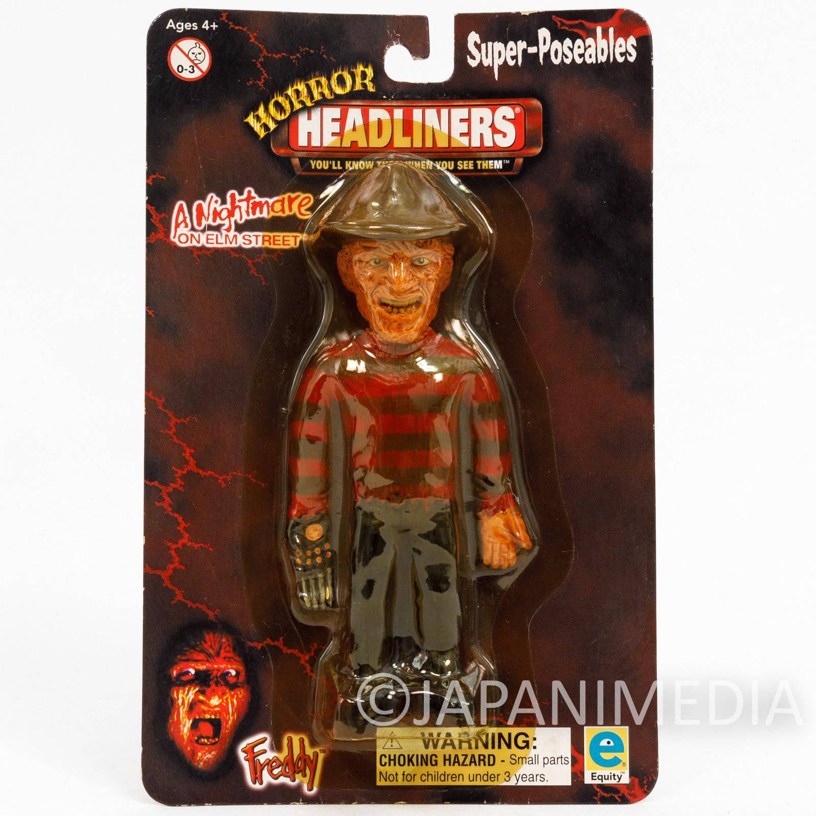 A Nightmare on Elm Street FREDDY KRUEGER Super Poseable Figure Horror Headliners