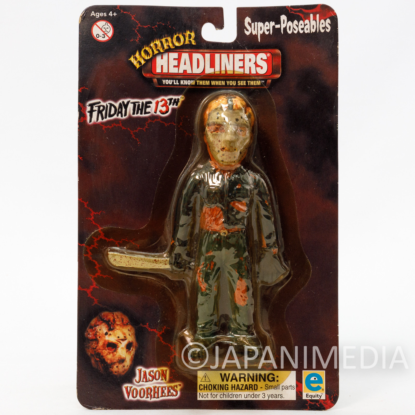 Friday The 13th JASON VOORHEES Super Poseable Figure Horror Headliners