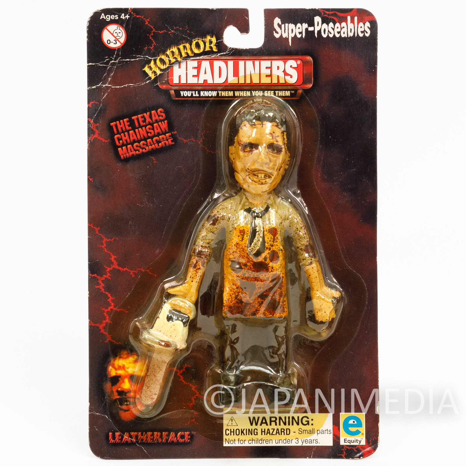 Texas Chainsaw Massacre Leatherface Super Poseable Figure Horror Headliners
