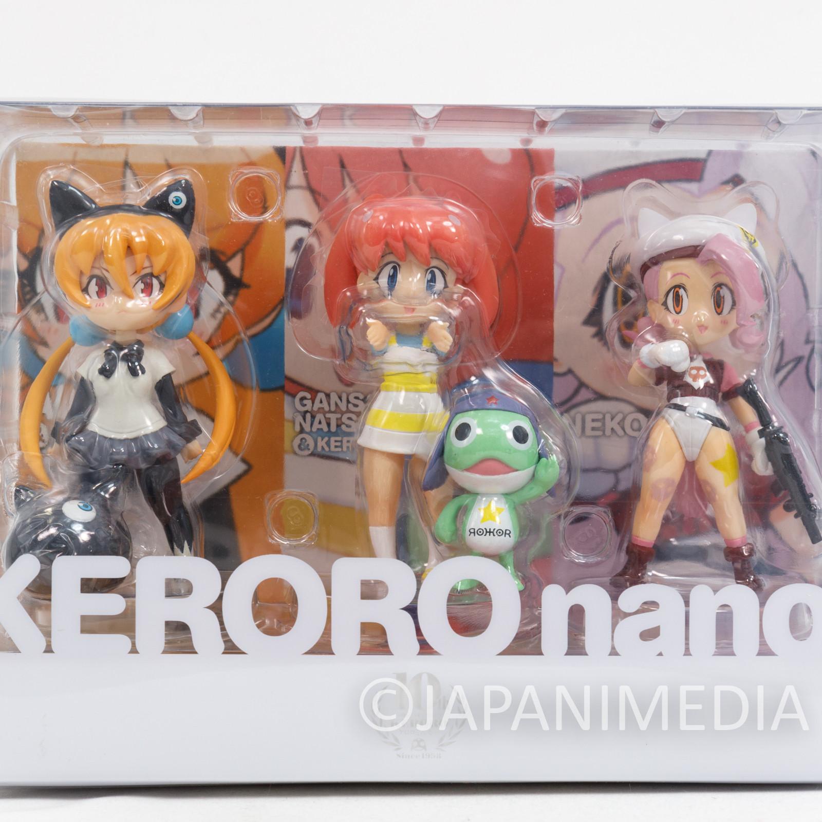 Sgt. Frog Keroro Gunso nano! Keroro & Natsumi Alisa & Nevula Kitten Figure Set