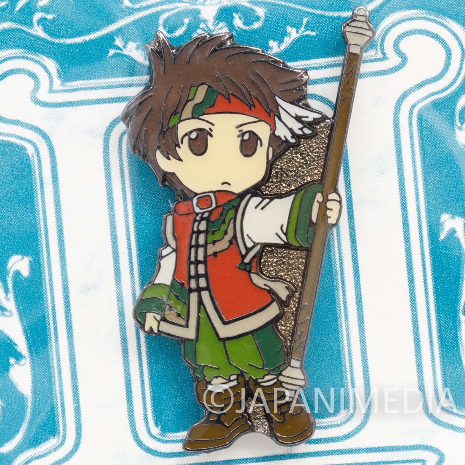 Genso Suikoden 3 Flame Champion Metal Pins Movic JAPAN GAME