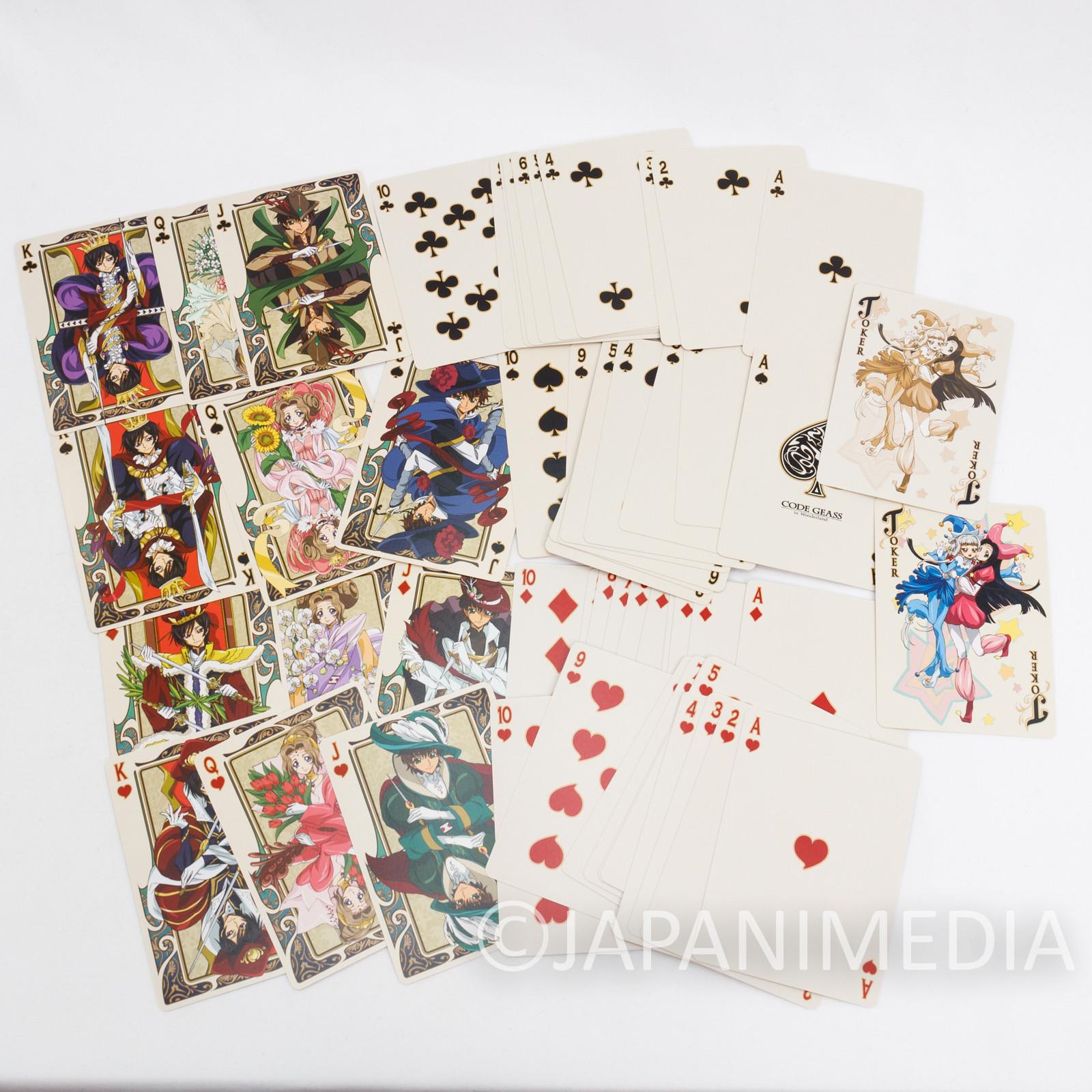 Code Geass in Wonderland Trump Playing Cards B JAPAN ANIME