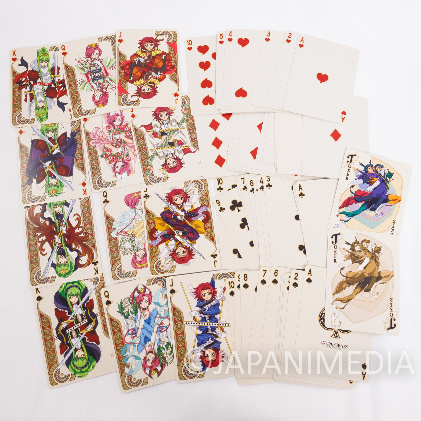 Code Geass in Wonderland Trump Playing Cards A JAPAN ANIME