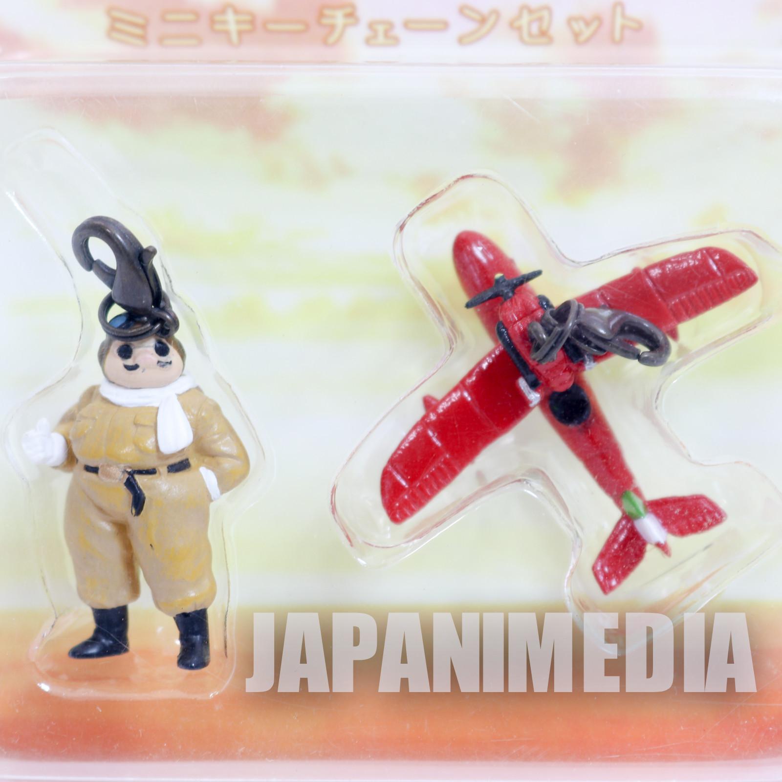 RARE! Porco Rosso Marco Pagot & Savoia Mini Mascot Set Ghibli Hayao Miyazaki