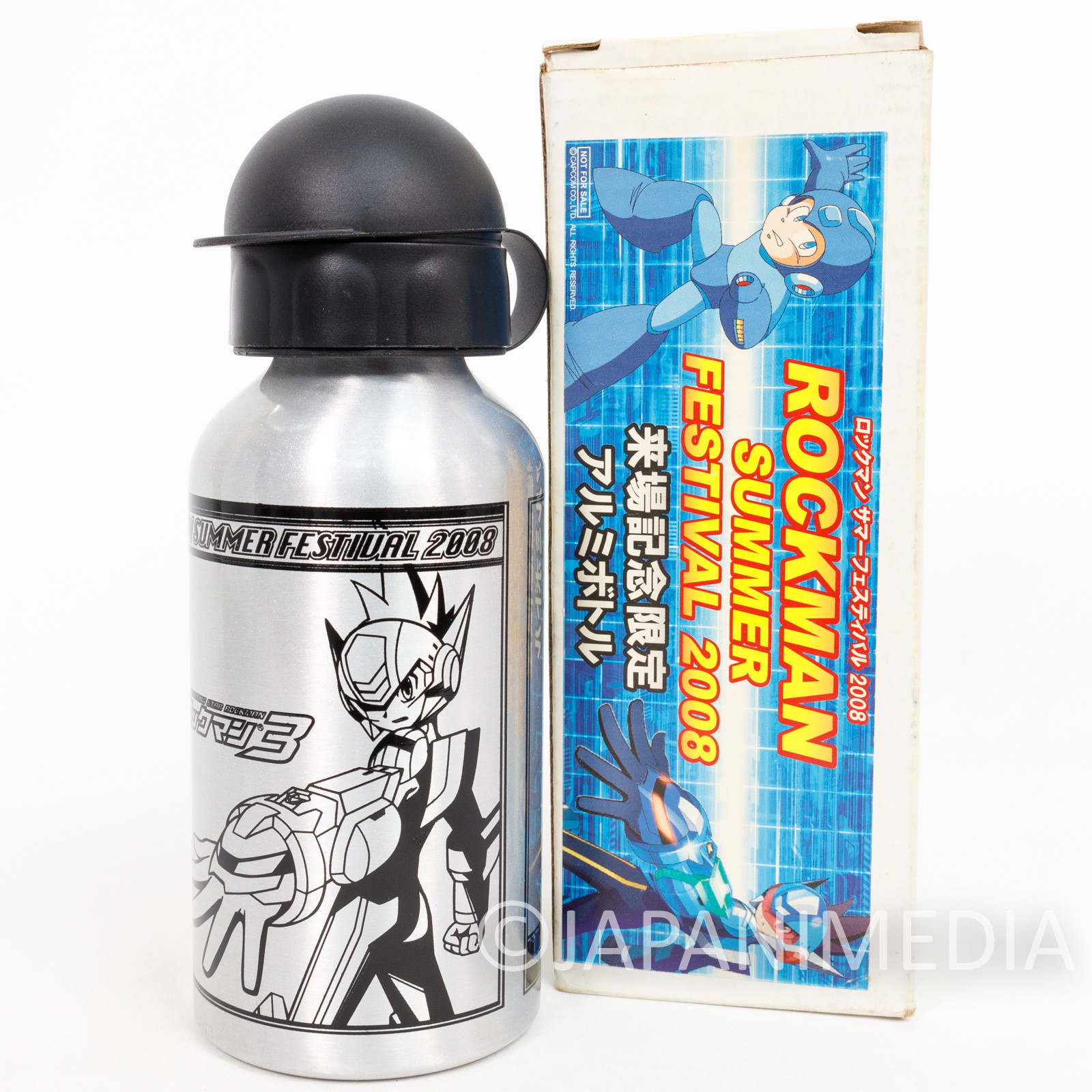 MEGA MAN Rockman Aluminum Water Bottle Summer Festival 2008 JAPAN GAME