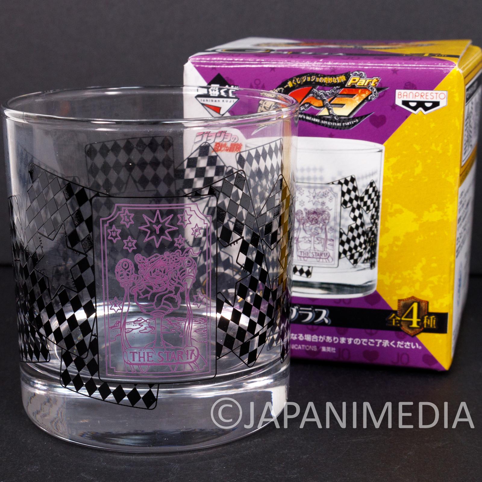 JoJo's Bizarre Adventure Rock Glass Star Platinum Tarot Card JAPAN ANIME