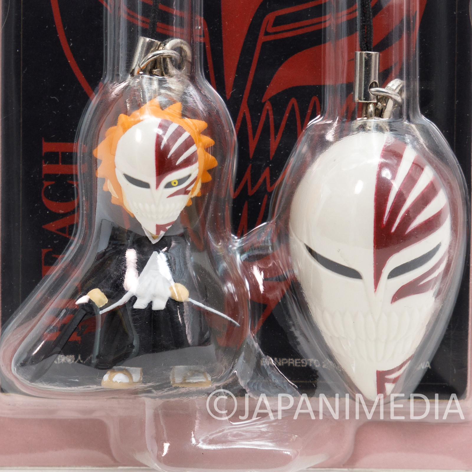 Bleach Ichigo Kurosaki & Mask Figure Strap Shonen Jump JAPAN ANIME
