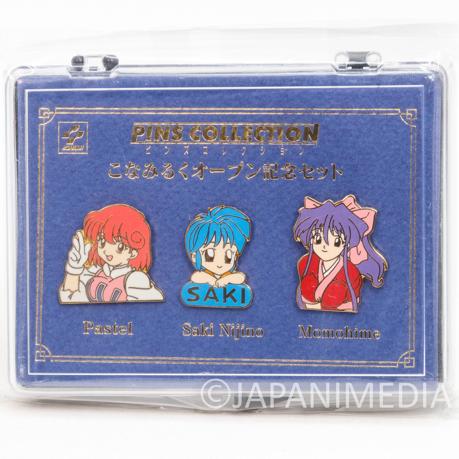 KONAMI Pins Collection Set Pastel Saki Momohime Konamiruku JAPAN GAME