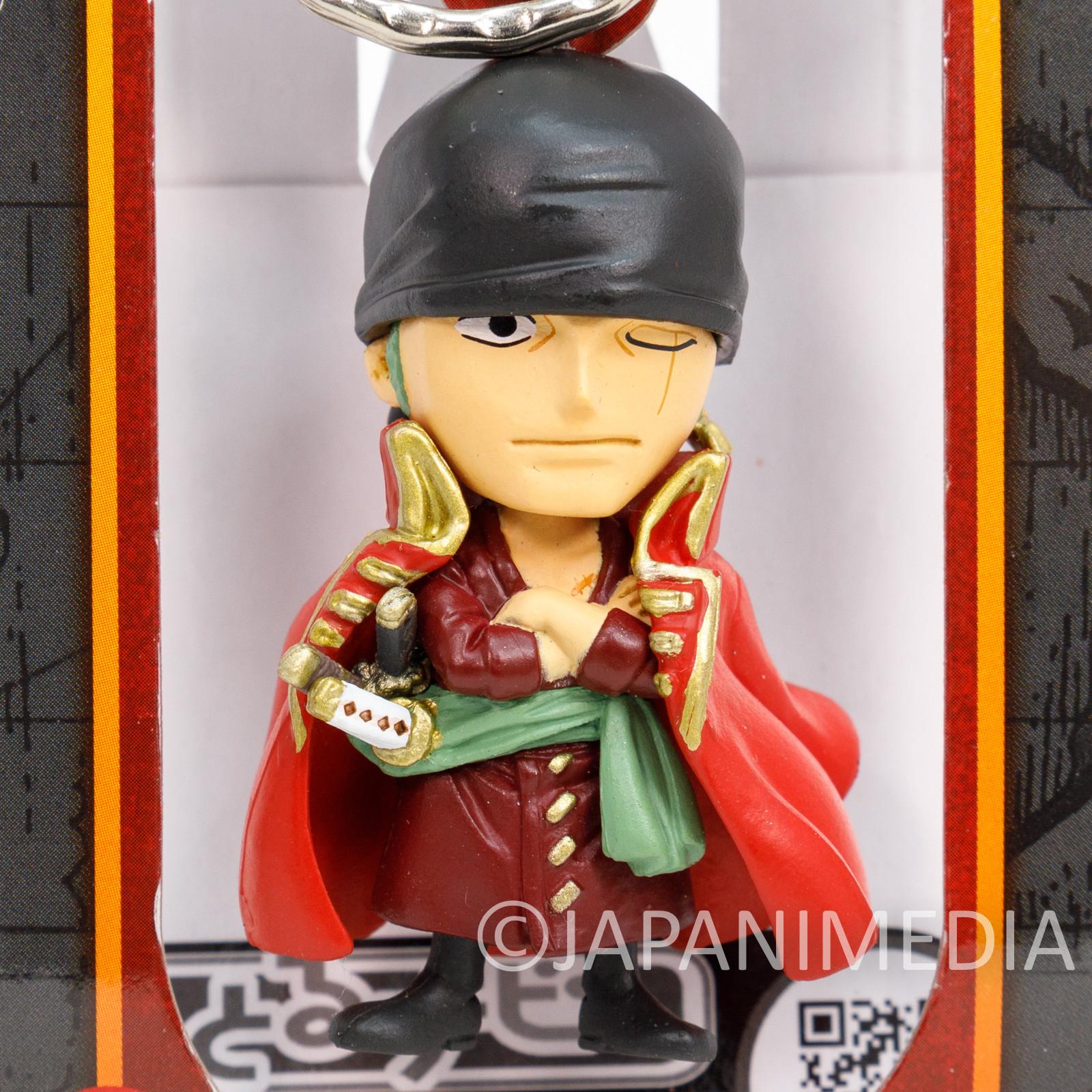 One Piece Film Z Roronoa Zoro Figure Keychain Banpresto JAPAN ANIME