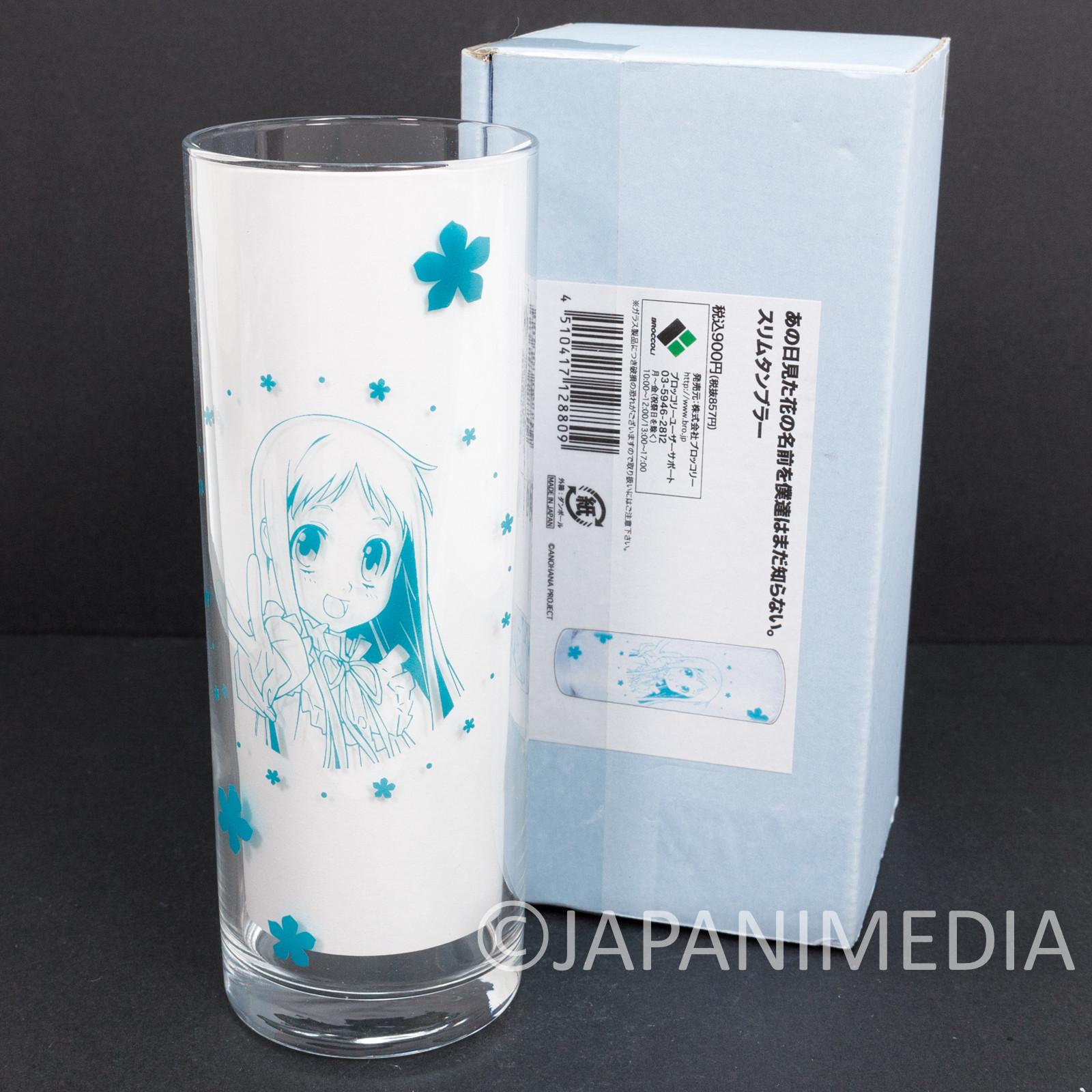 RARE! Anohana The Flower We Saw That Day Menma Honma Meiko Glass JAPAN ANIME 2