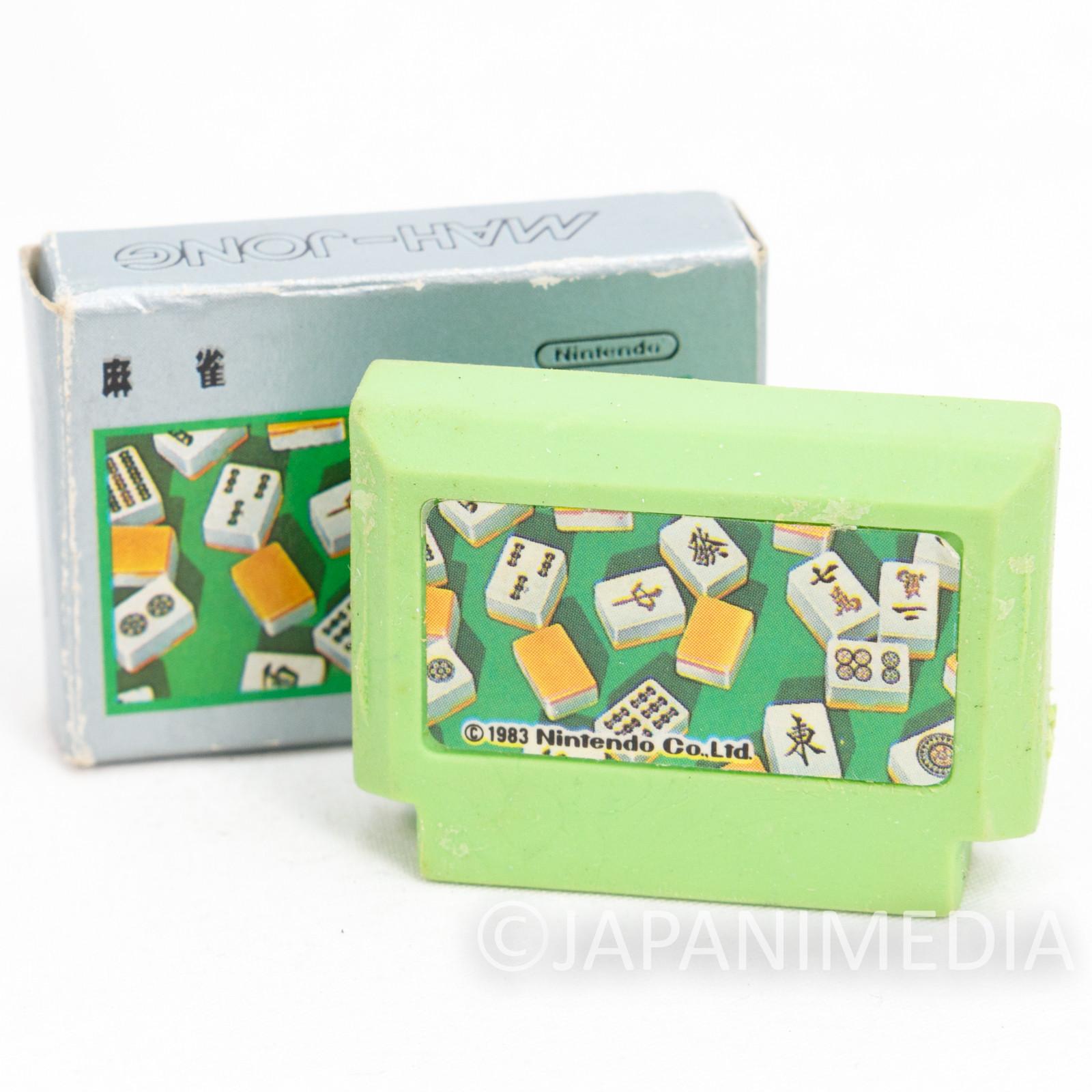 Mahjong Cassette Mini Eraser AMADA JAPAN FAMICOM NES Nintendo