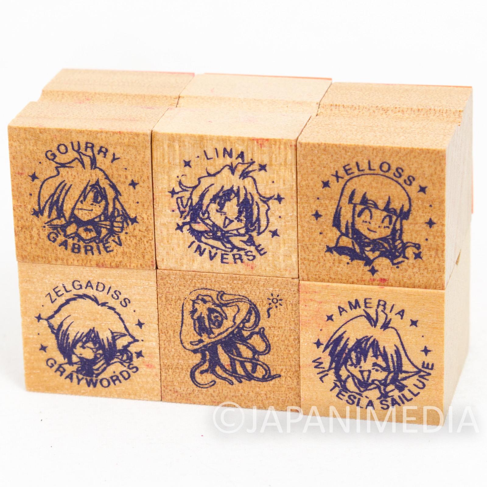 Slayers NEXT Mini Stamp 6pc Set [ Lina | Gourry | Ameria | Zelloss | Zelgagiss ]