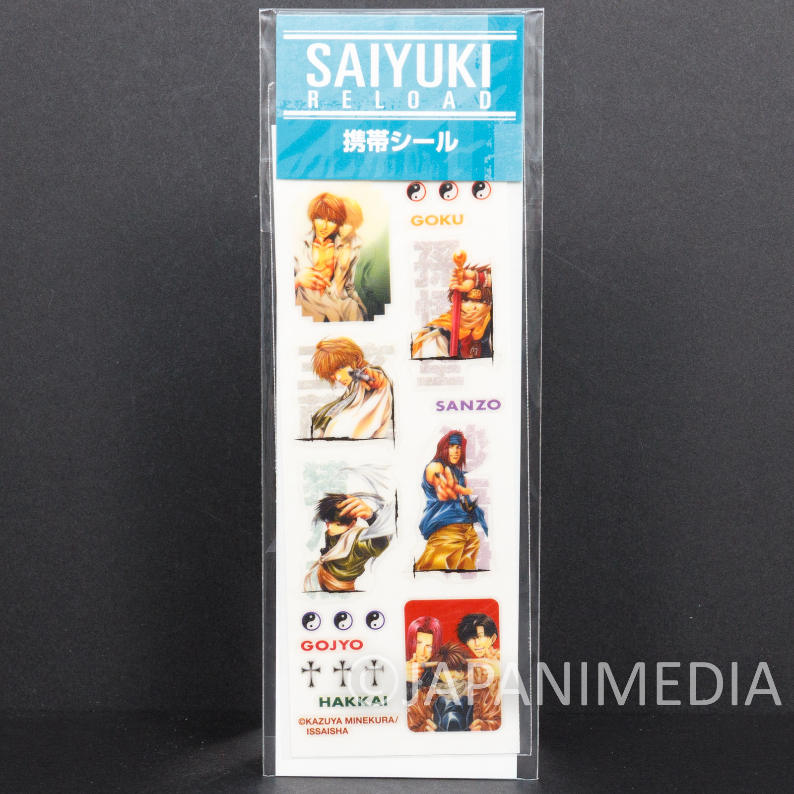 Retro SAIYUKI Reload Stickers Sheet JAPAN ANIME