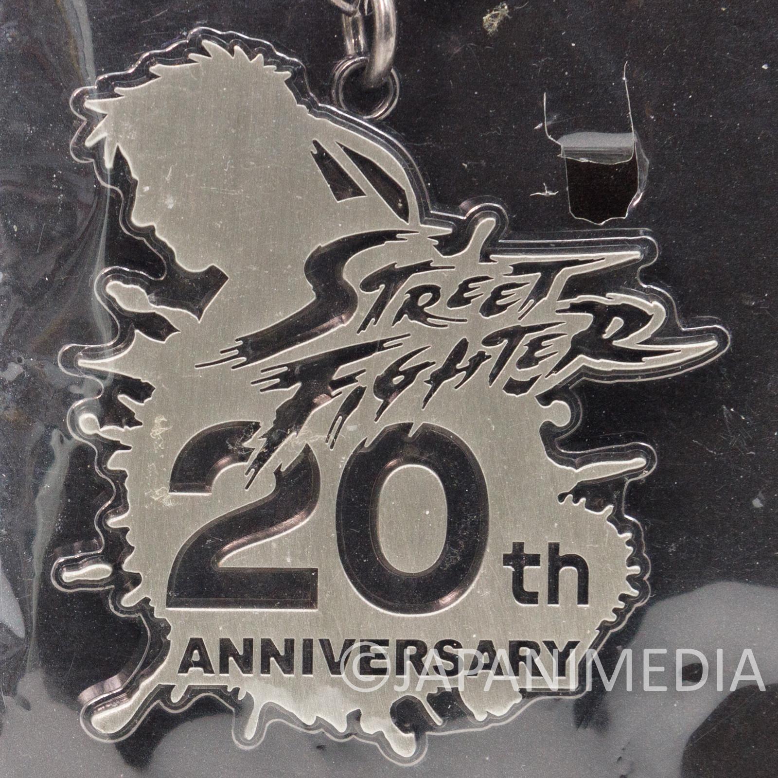 Street Fighter II Metal Charm Keychain 20th Anniversary CAPCOM JAPAN